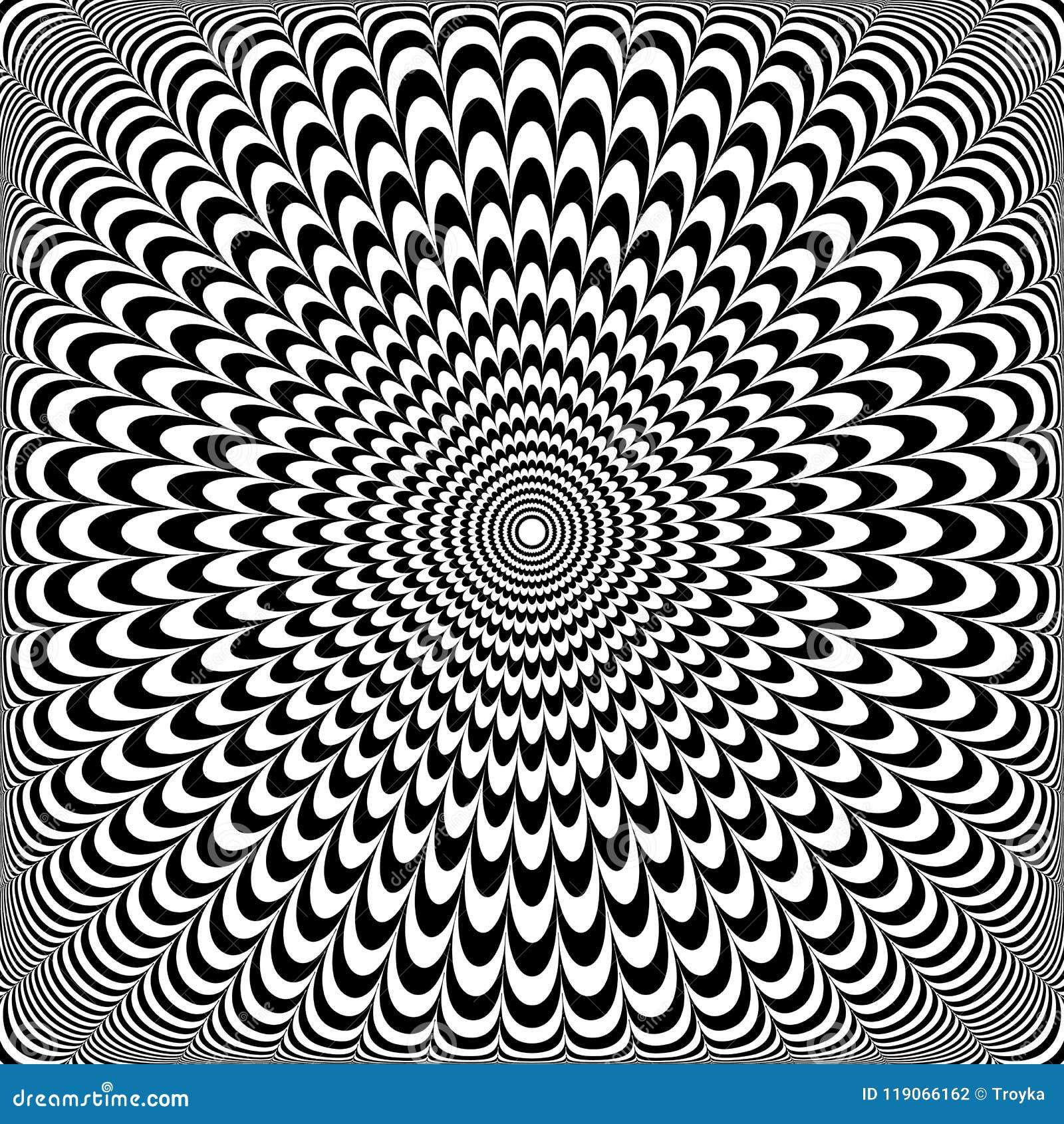 Disegno Di Illusione Ottica Modello Astratto Di Arte Op
