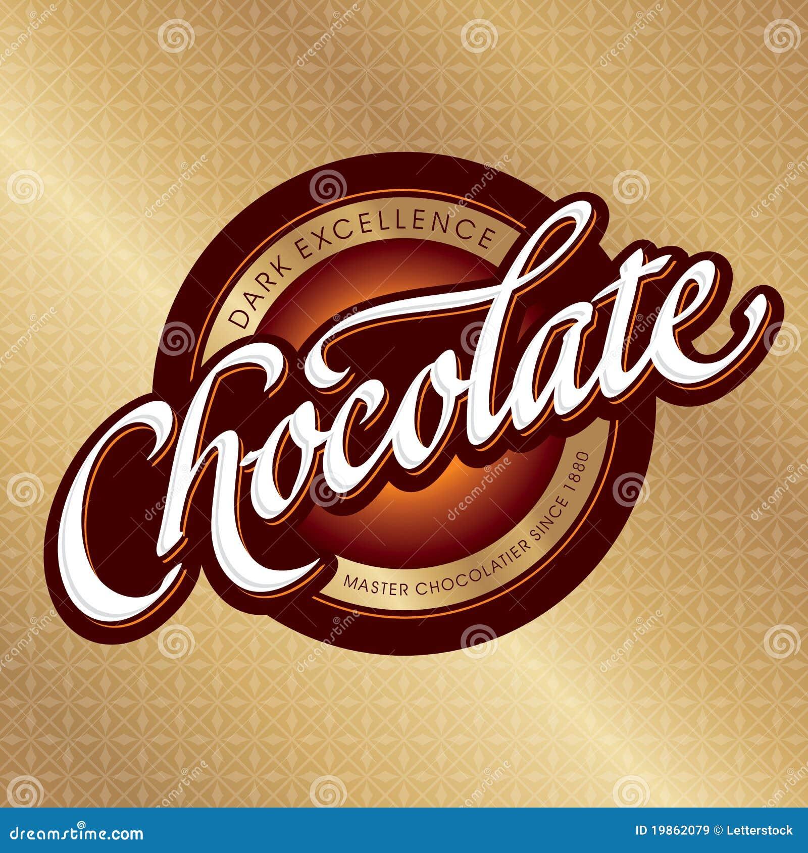 Disegno di imballaggio del cioccolato (vettore)