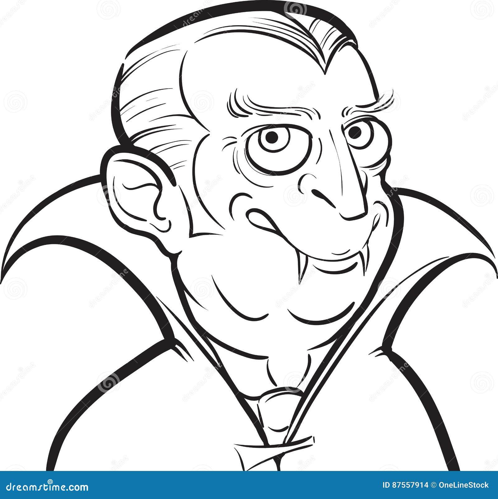 Disegno Di Lavagna Personaggio Dei Cartoni Animati Del Vampiro Di