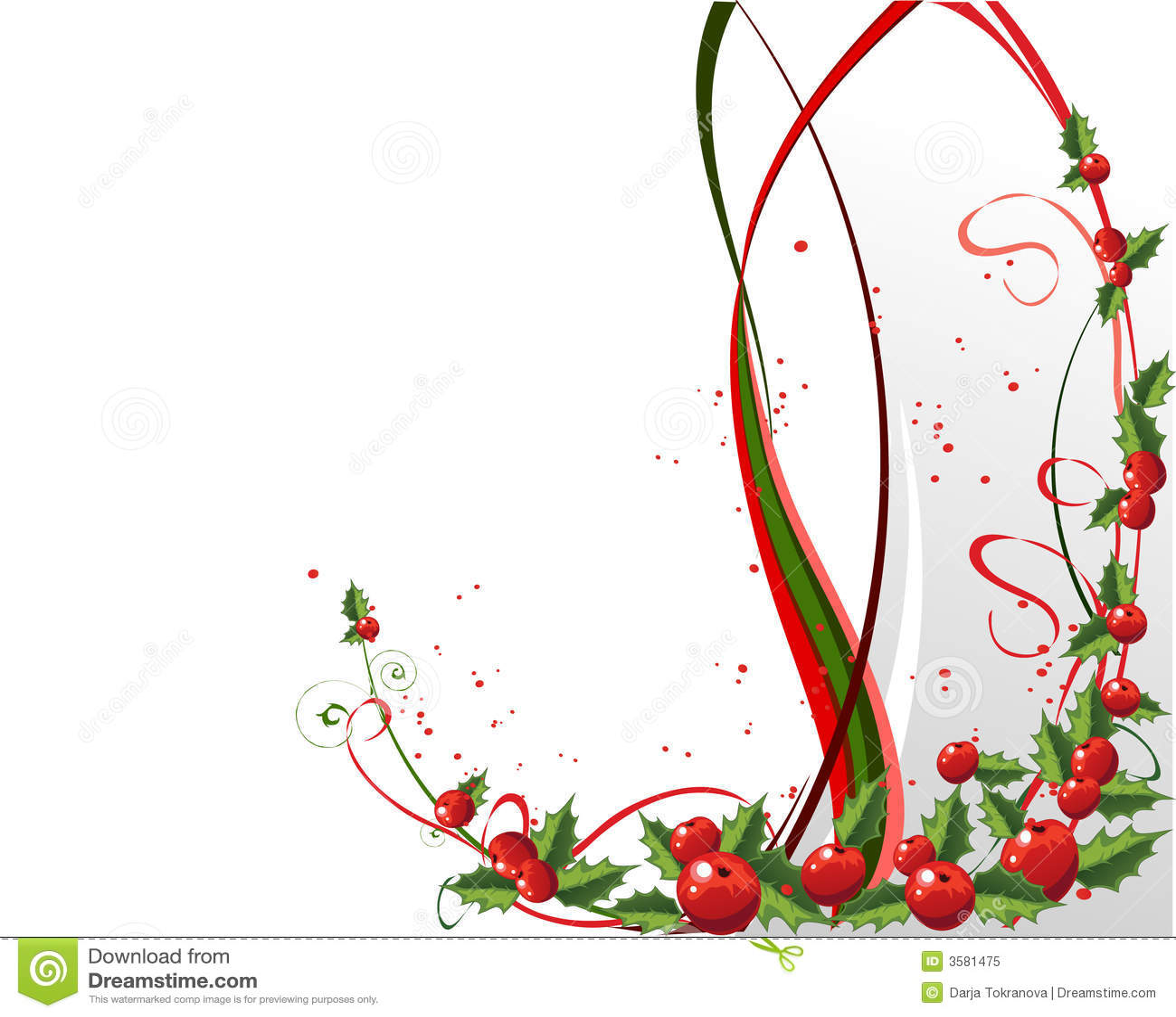 Disegno Di Natale Con Agrifoglio Illustrazione Vettoriale