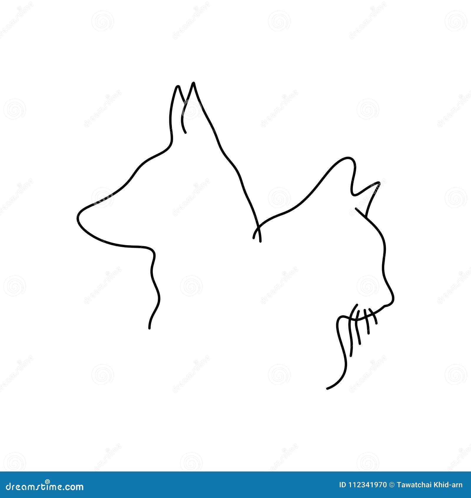 Disegno Di Profilo Del Illustrati Minimalista Di Vettore Della Testa