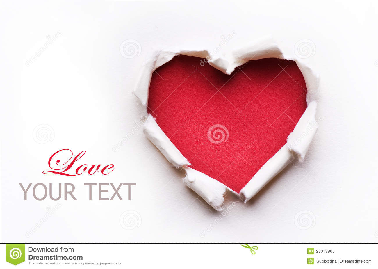 Disegno di scheda del cuore del biglietto di S. Valentino