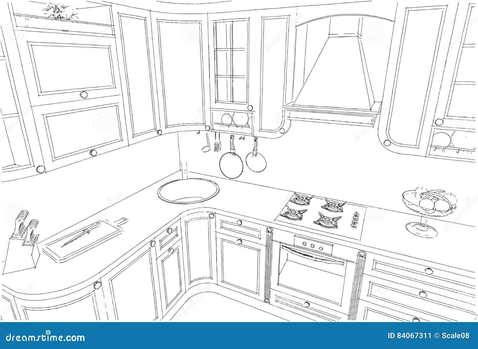 Disegno Cucina. Latest Disegnare Cucina Gallery Of Schizzo A Mano ...