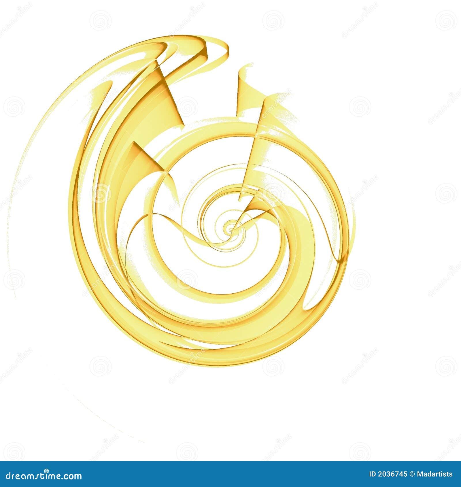 Disegno di spirale delle coperture nel colore giallo
