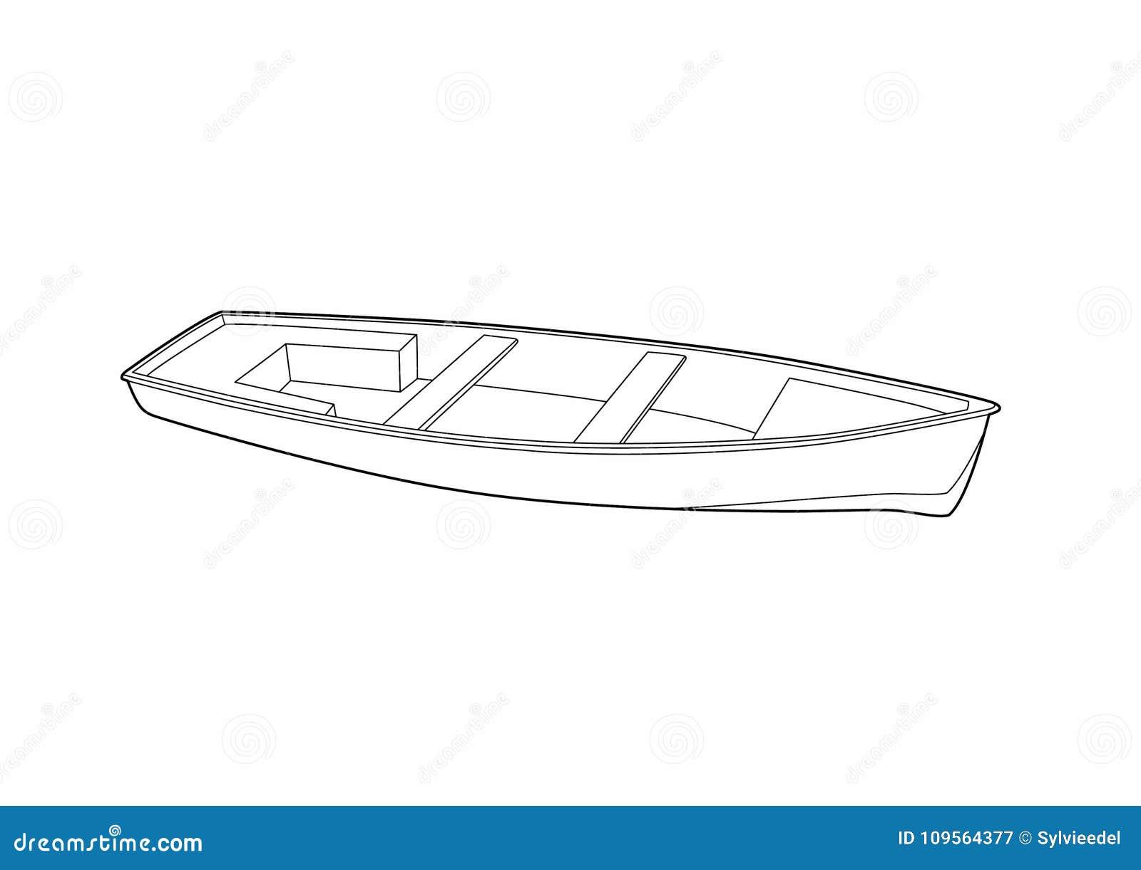 Disegno Di Una Barca Del S Del Pescatore Illustrazione Vettoriale
