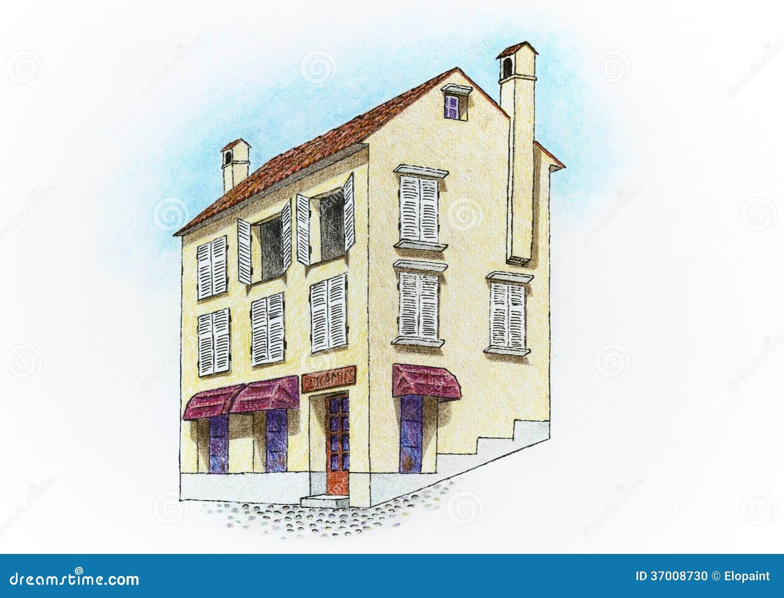 Disegno Di Una Casa Illustrazione Di Stock Illustrazione Di Casa