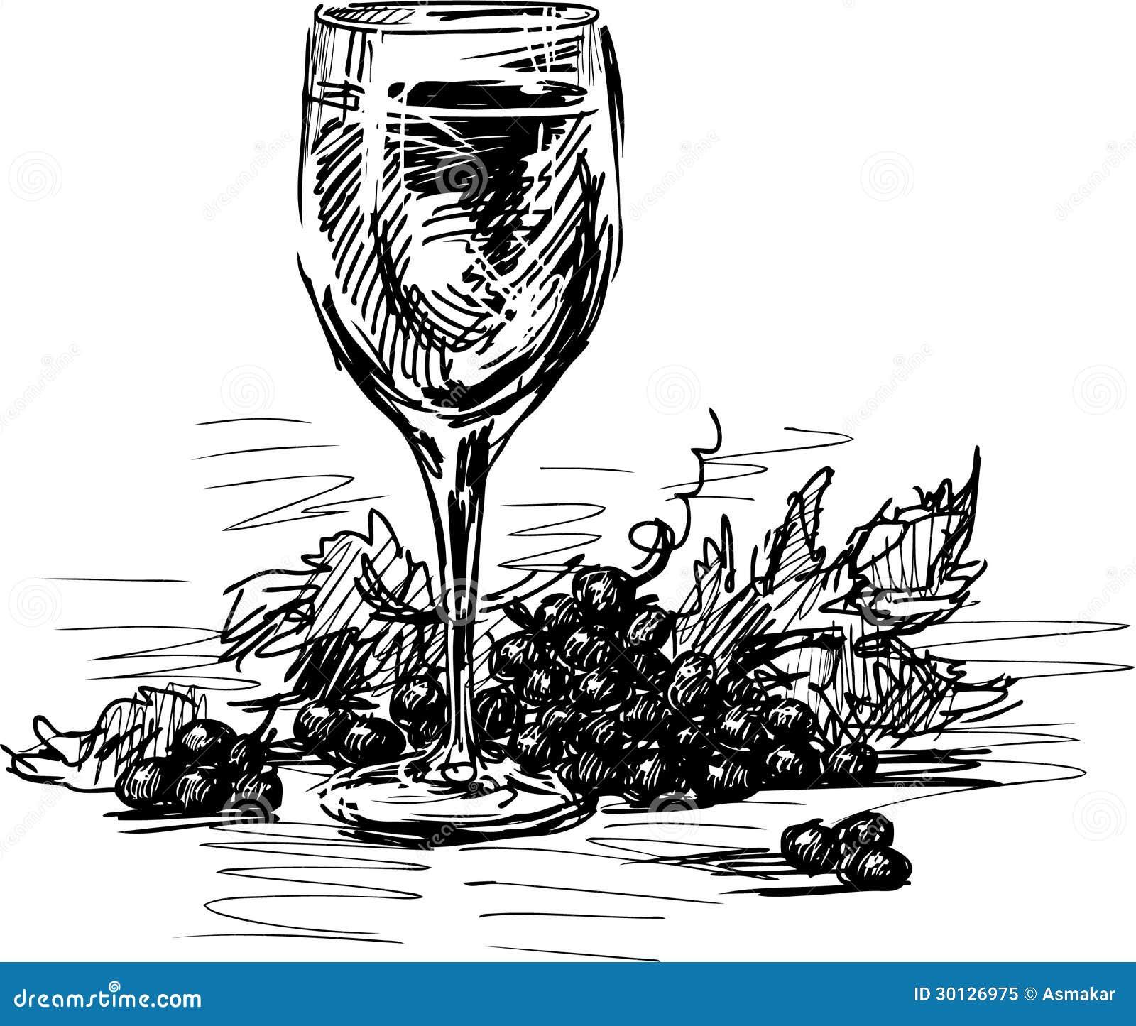 Vetro di vino e dell 39 uva immagine stock immagine di for Progetti di costruzione del mazzo