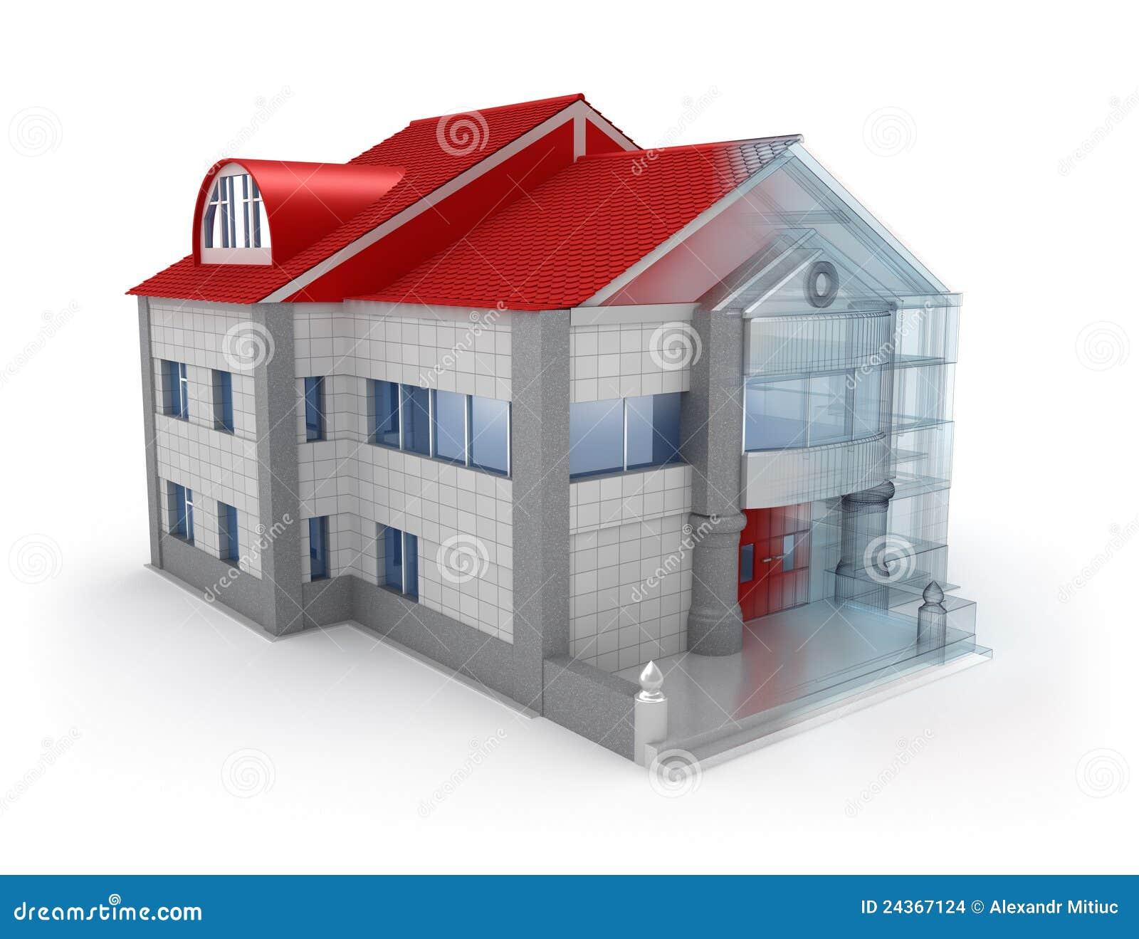 Disegno esterno della casa illustrazione di stock for Disegno della casa di architettura