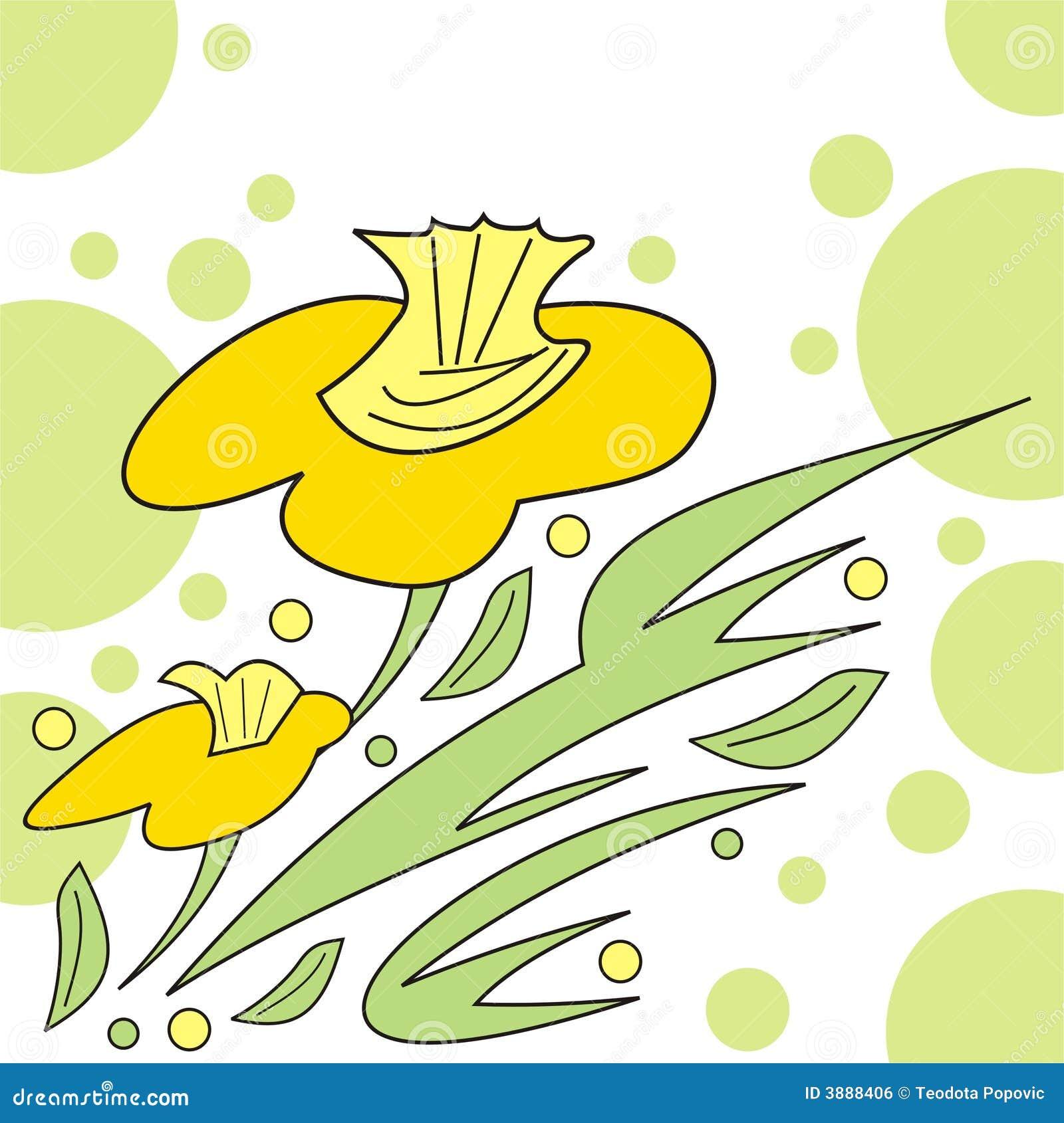 Disegno floreale astratto