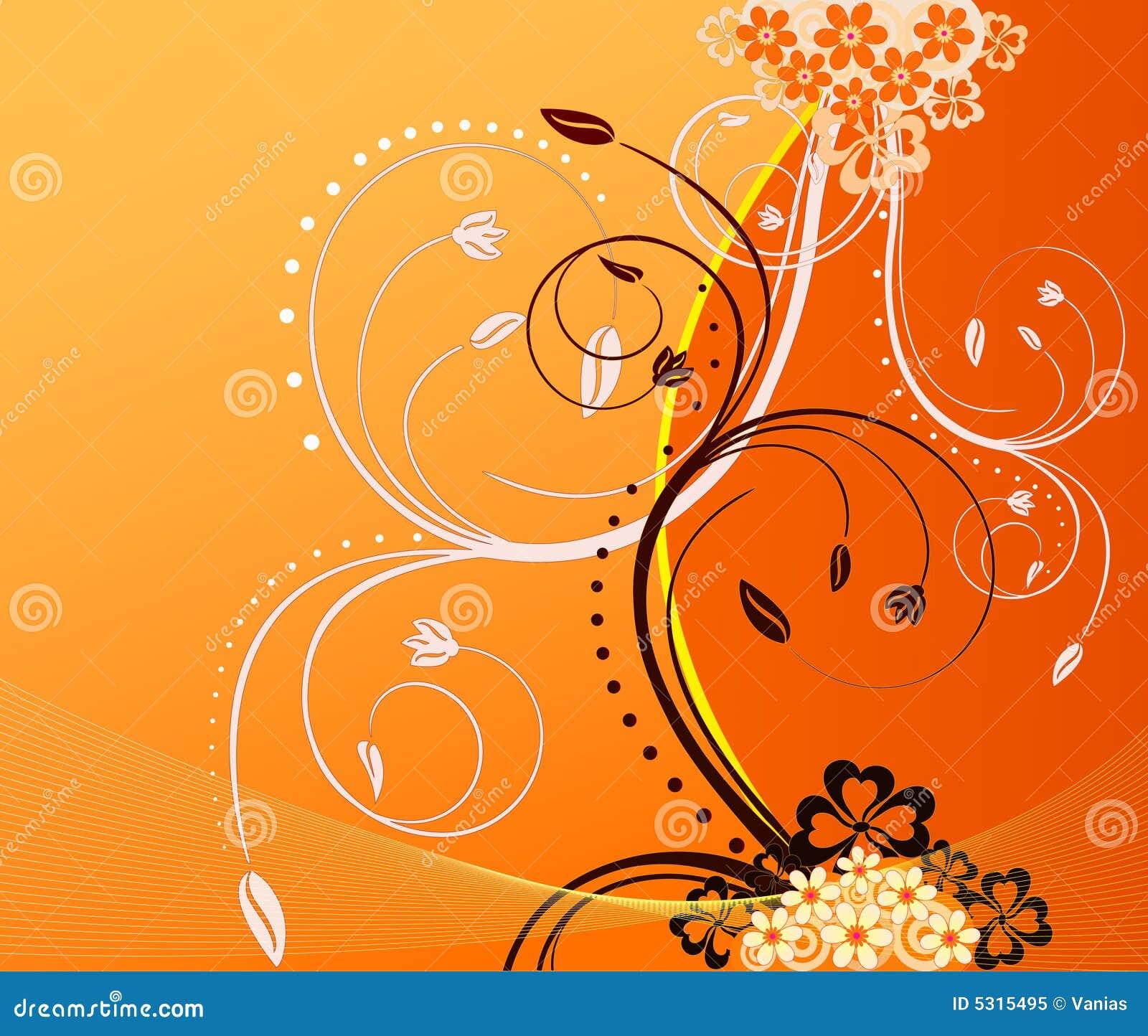 Download Disegno Floreale Di Vettore Illustrazione di Stock - Illustrazione di decorazione, fogliame: 5315495