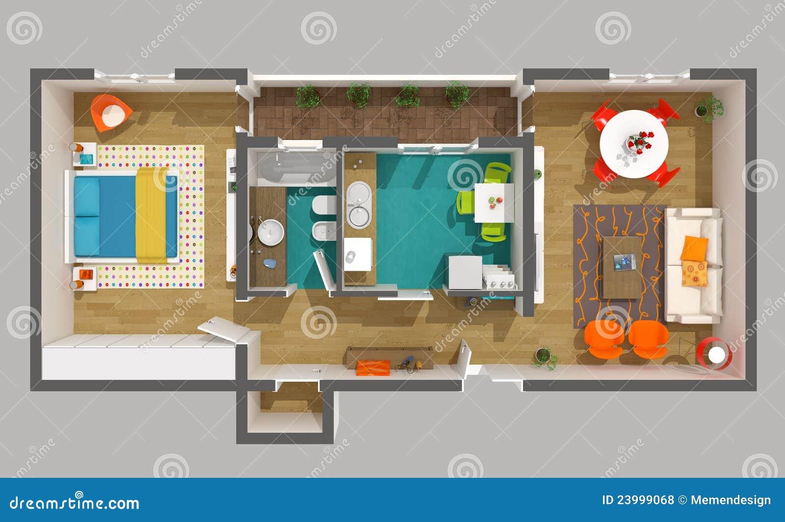 Disegno interno 3d si dirigono il progetto piccolo for Interior home designer and projects