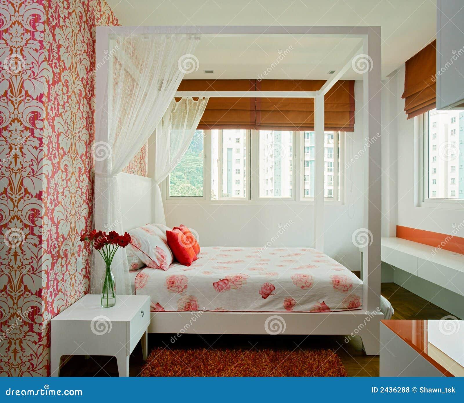 Disegno interno camera da letto fotografie stock libere for Camera da letto carta da parati