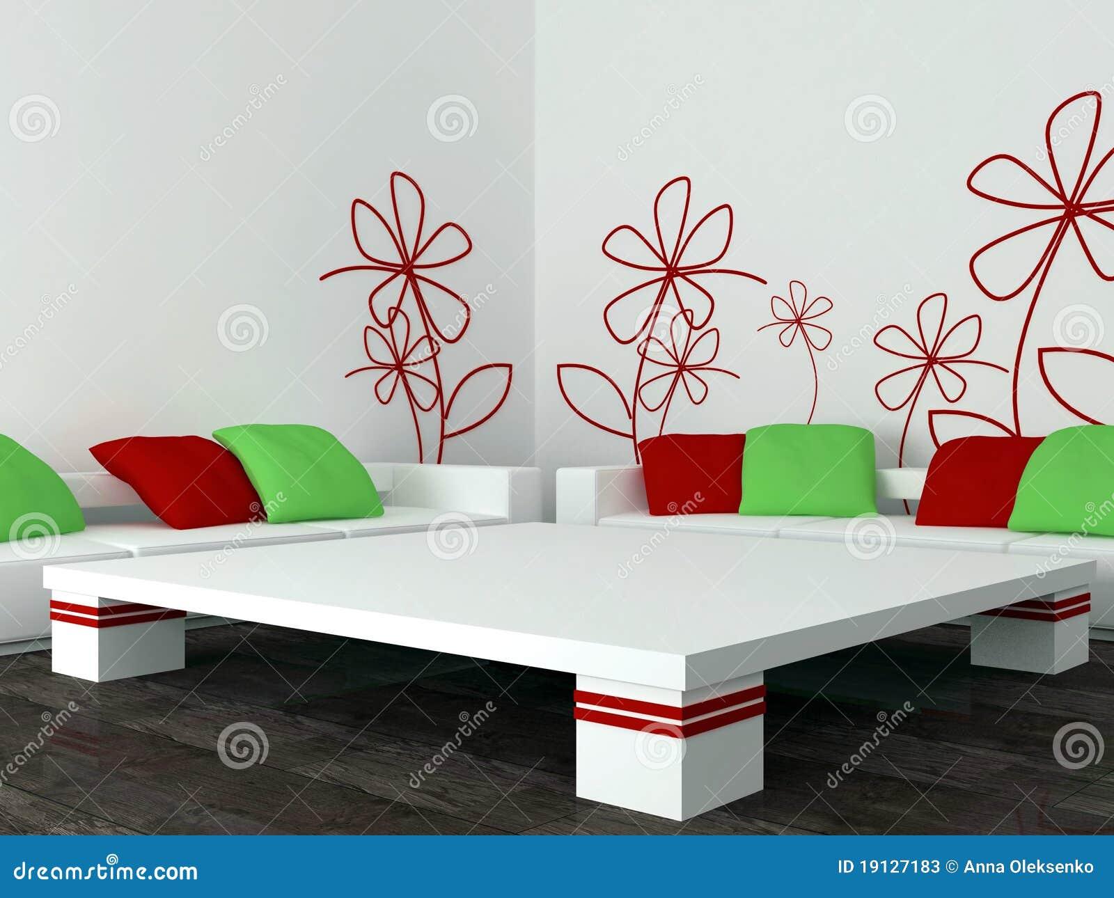 Disegno interno del salone moderno salotto illustrazione for Disegno interno casa