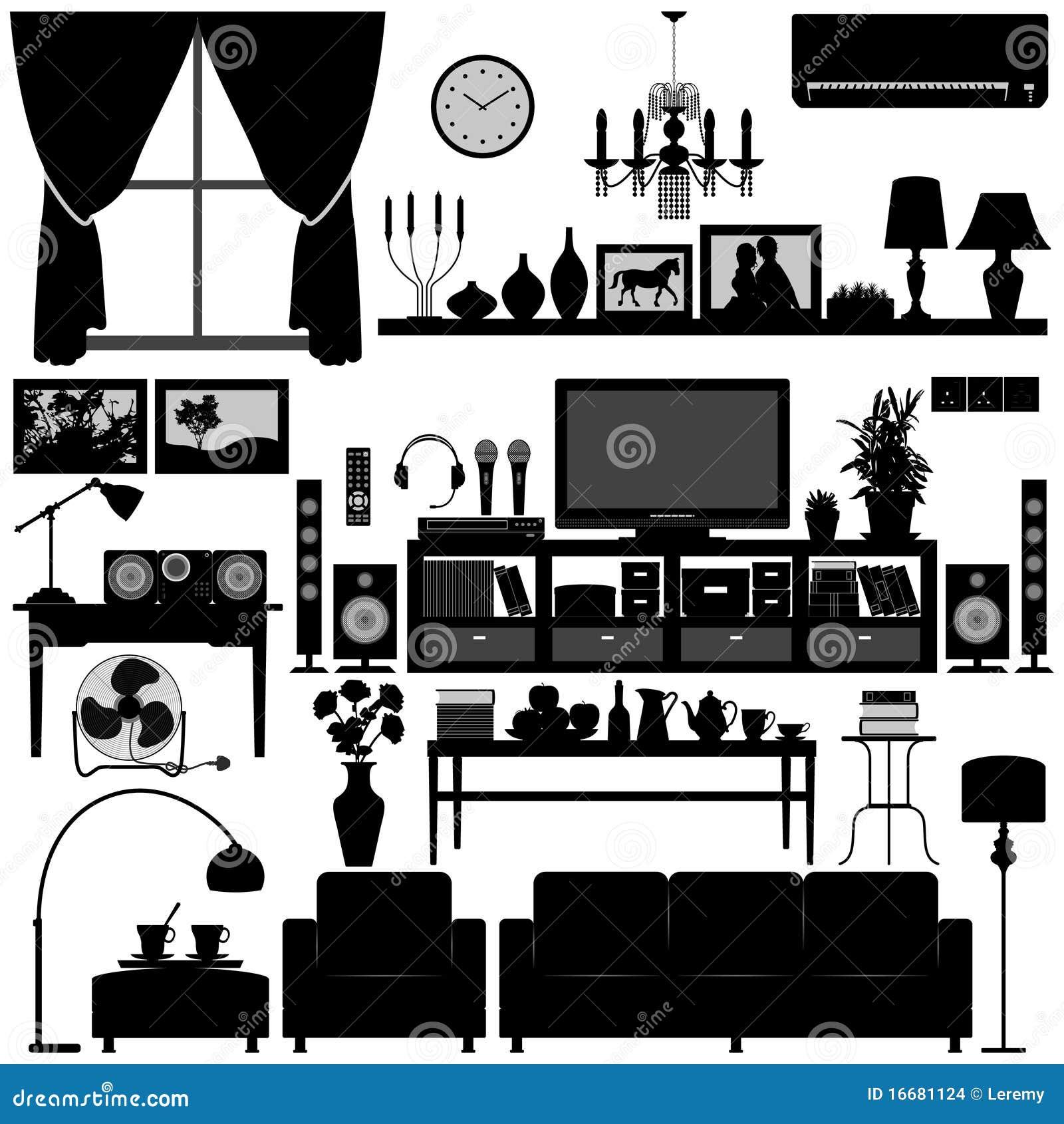 Disegno interno della casa della mobilia del salone for Disegno della casa