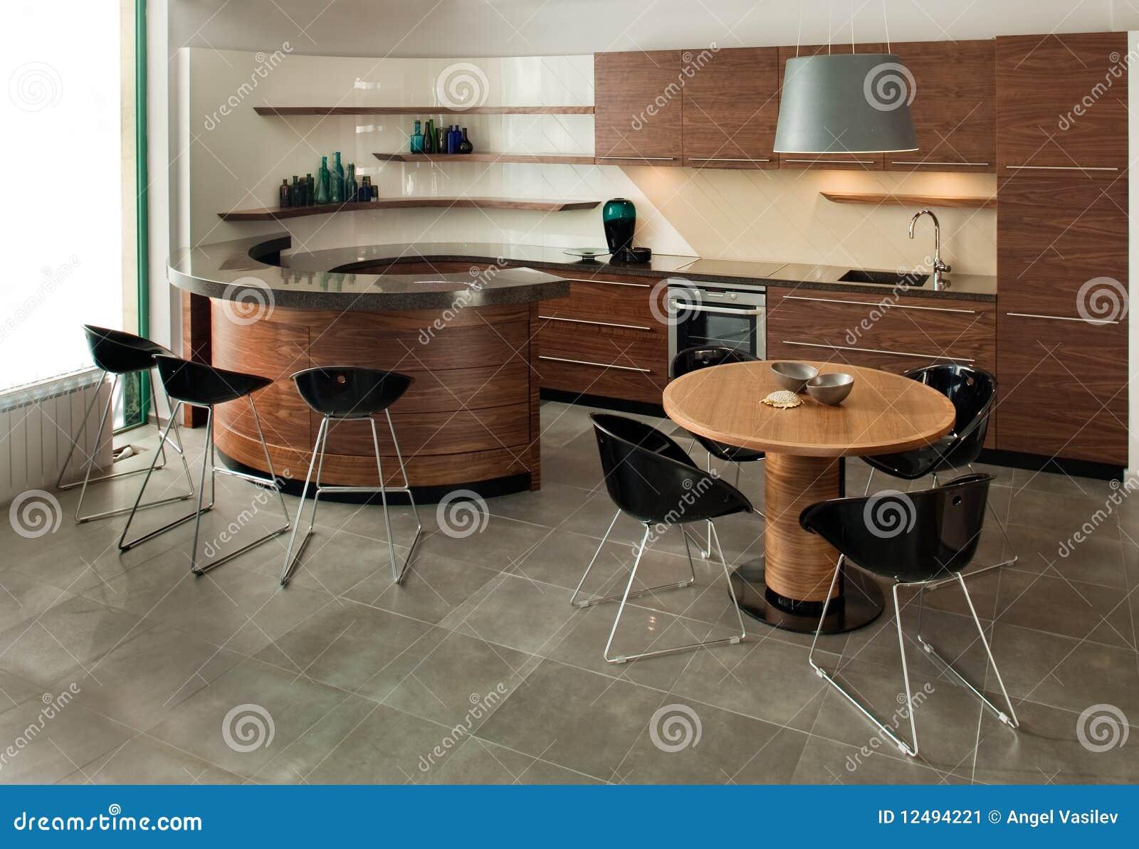 Disegno Interno Della Cucina. Elegante E Di Lusso. Immagine Stock - Immagine: 12494221