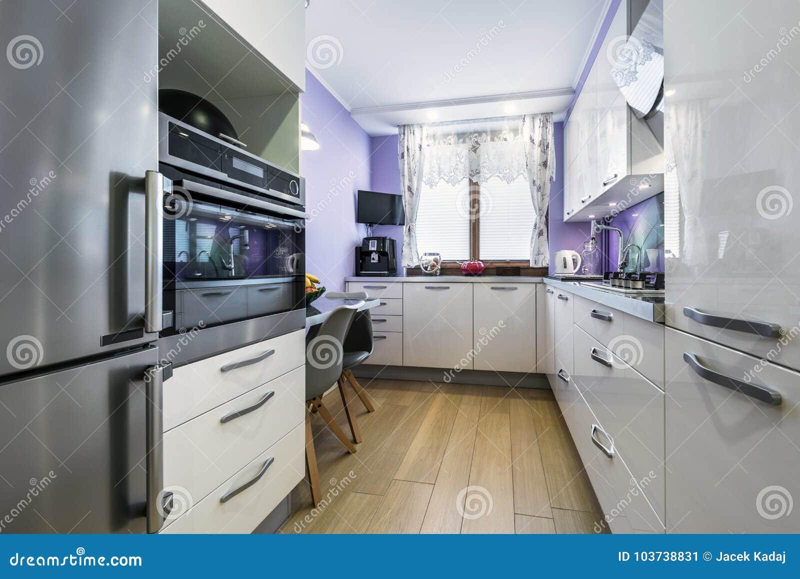 Disegno Interno Della Cucina Moderna Immagine Stock ...