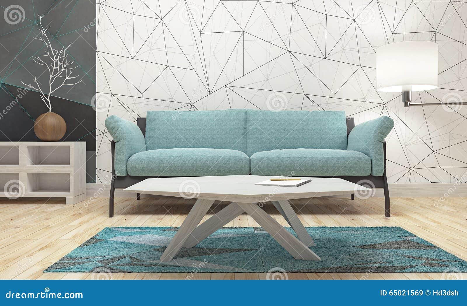 Disegno interno moderno del salone immagine stock for Interno moderno