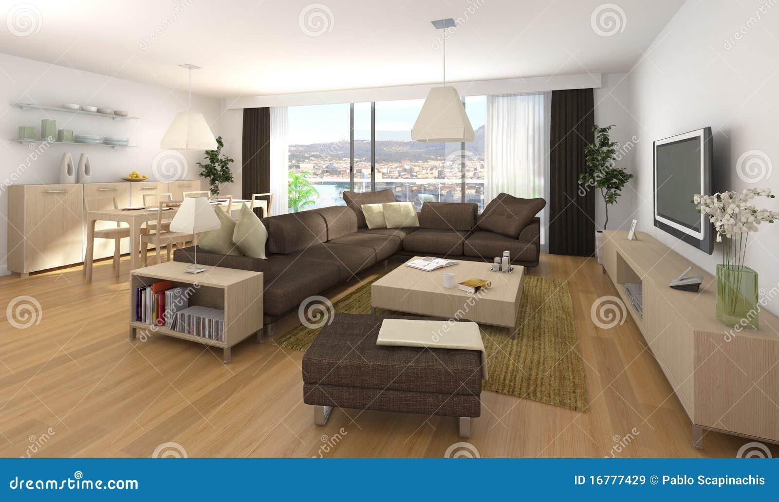 Disegno interno moderno dell 39 appartamento illustrazione di for Interni di appartamenti