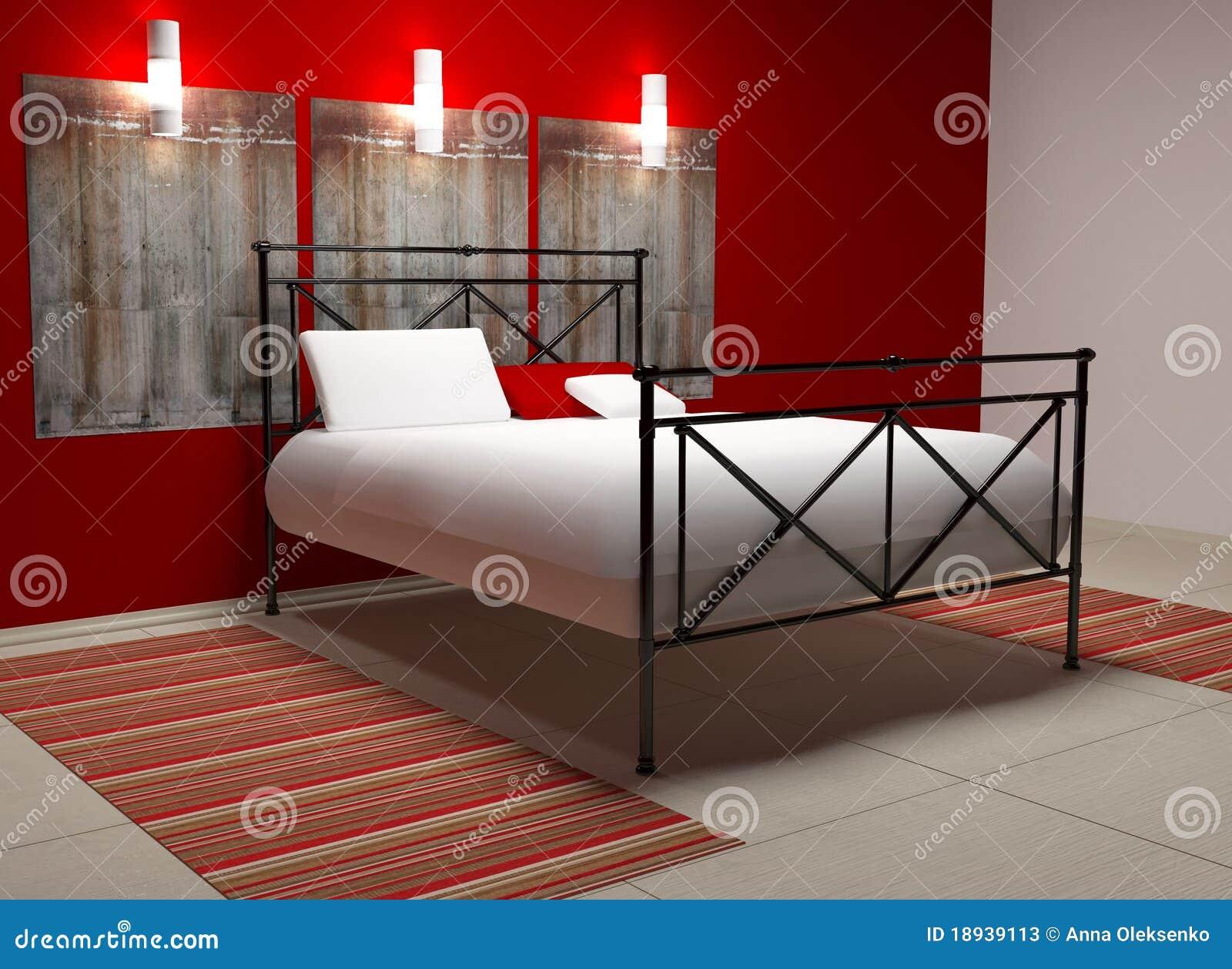 Disegno interno moderno della camera da letto fotografie for Camera letto 3d