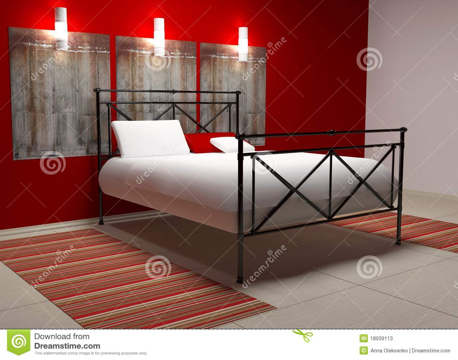 Camera da letto bianca e rossa ~ canlic for .