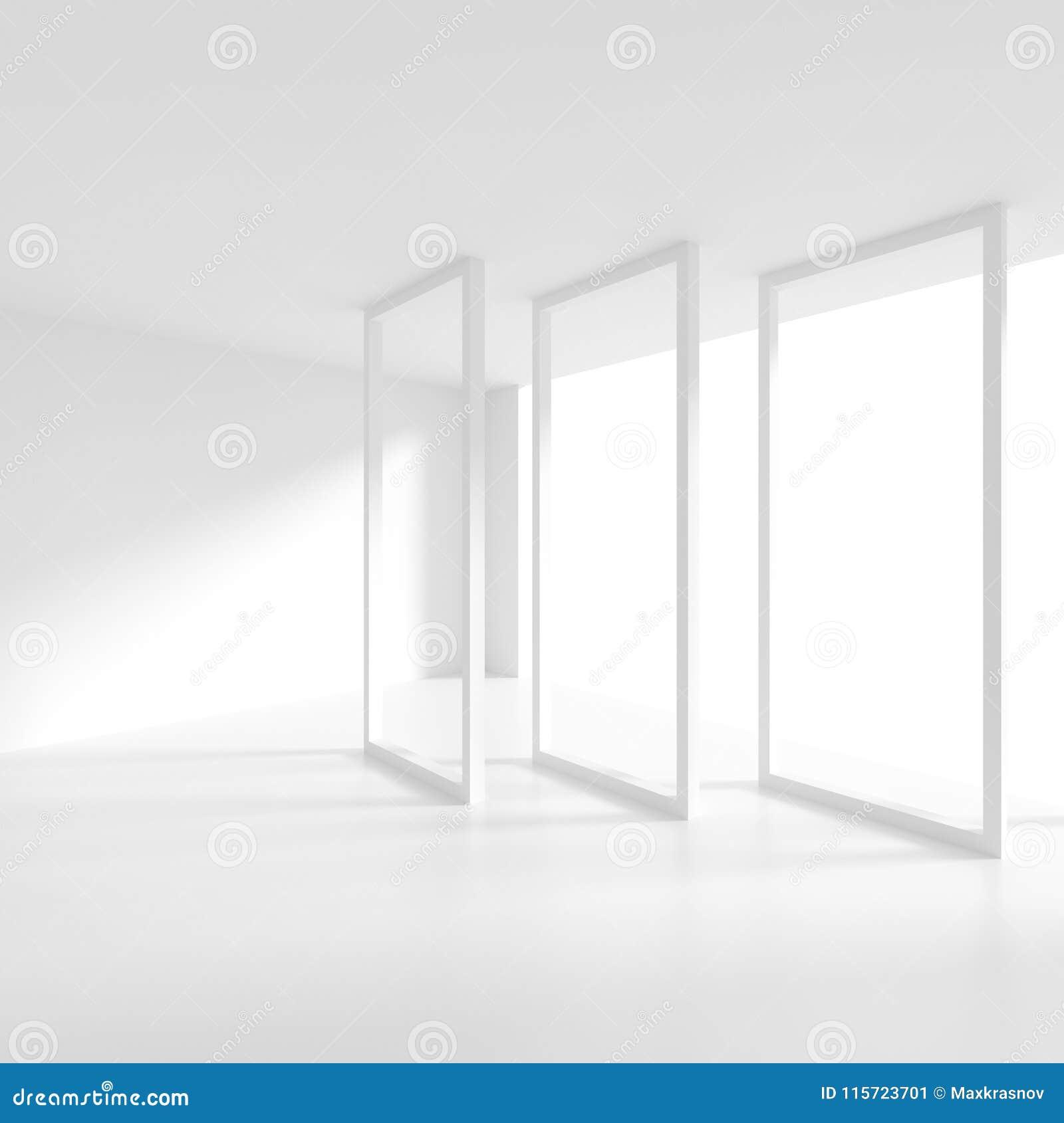 Disegno interno moderno stanza vuota illustrazioni for Disegno stanza