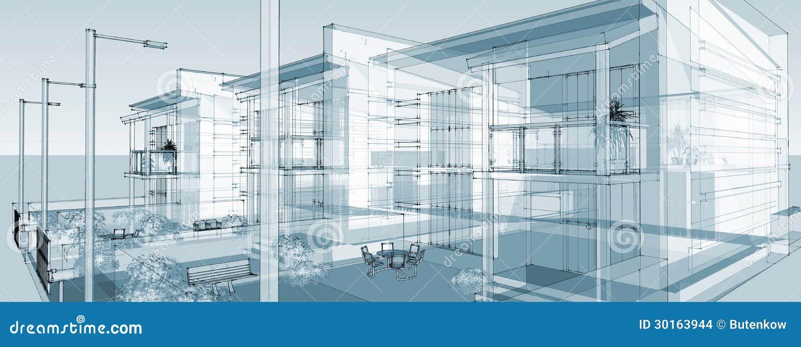 Costruzione lineare di immagine immagini stock immagine 30163944 - Disegno pianta casa ...
