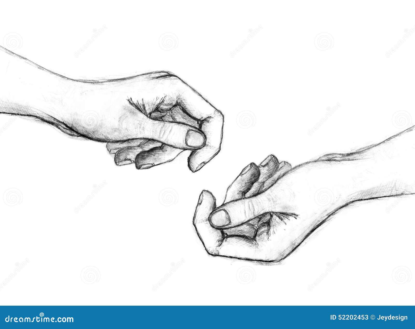 Disegno A Matita Delle Mani Illustrazione Di Stock Illustrazione