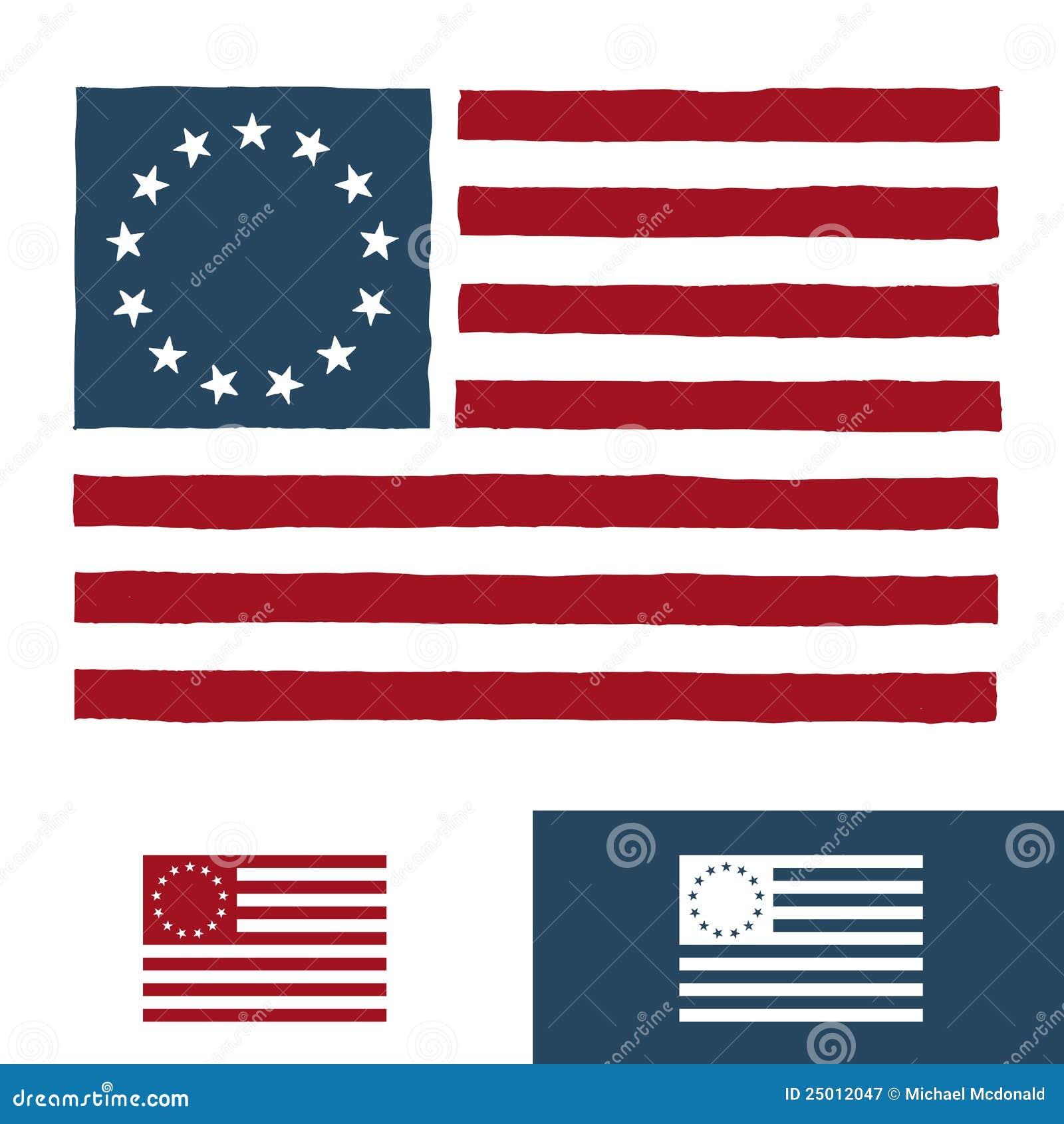 Disegno originale della bandiera americana illustrazione for Disegno della fattoria americana