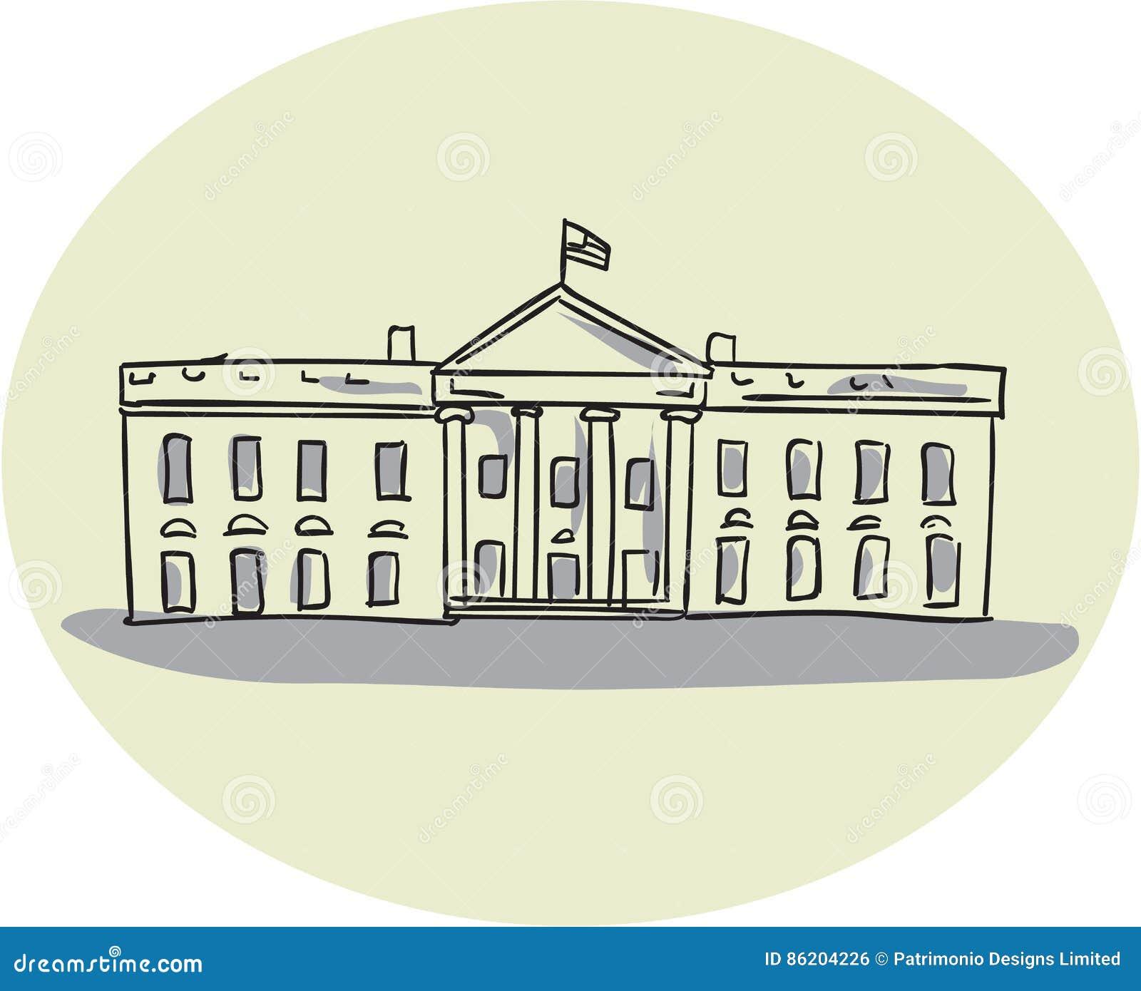 Disegno ovale della costruzione della casa bianca for Disegno della casa