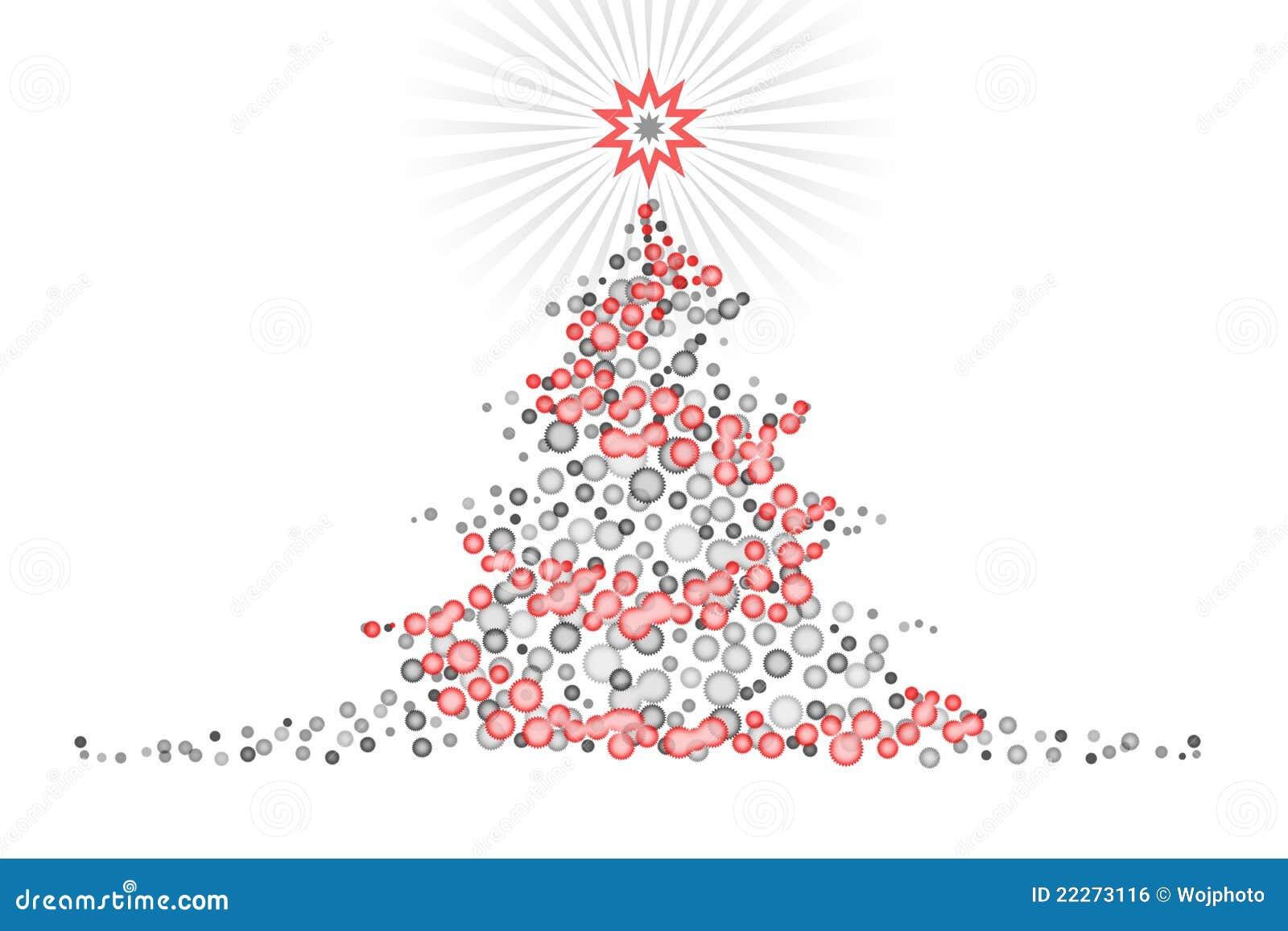Disegno Stilizzato Illustartion Dell Albero Di Natale Illustrazione