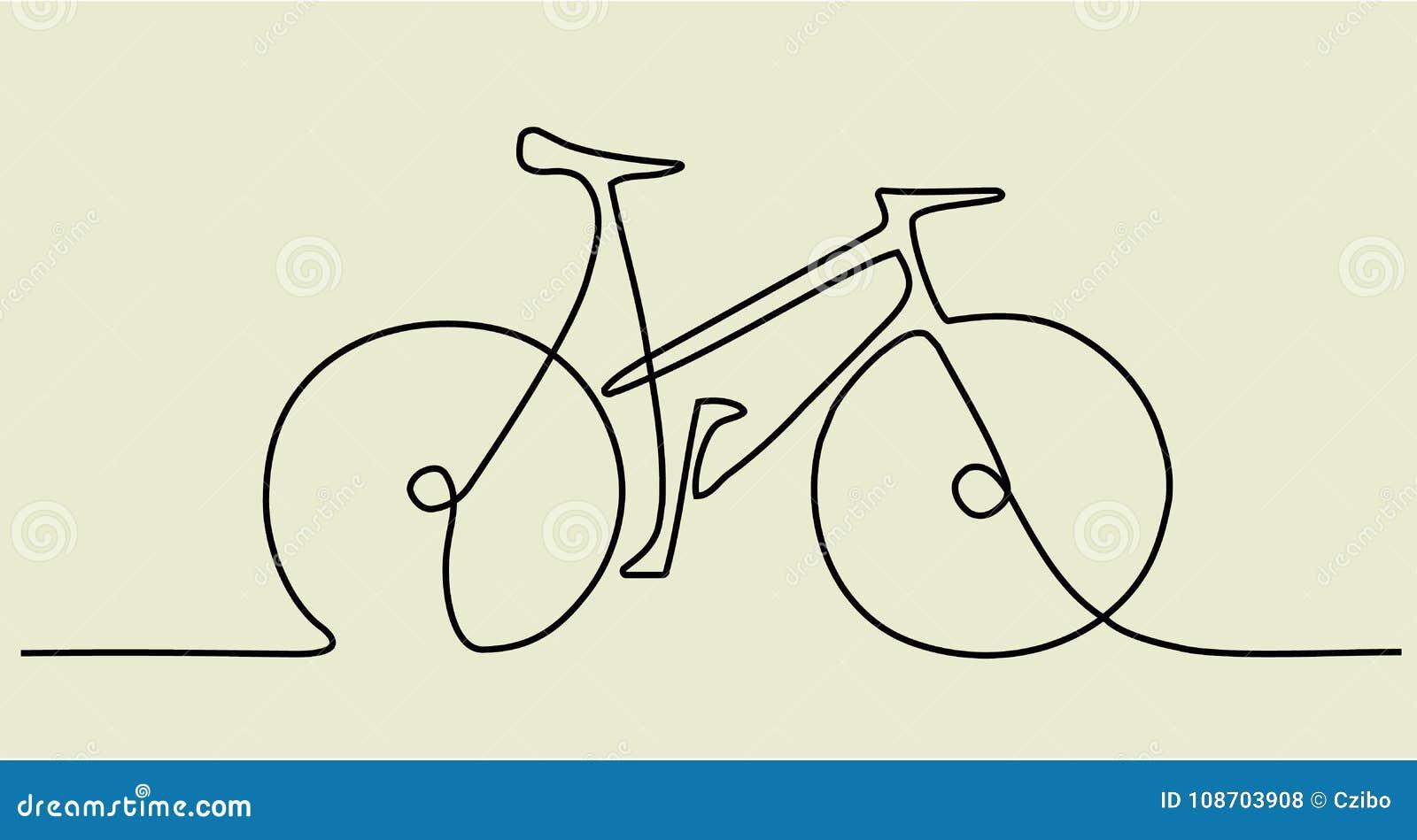 Disegno a tratteggio dell estratto uno con la bici