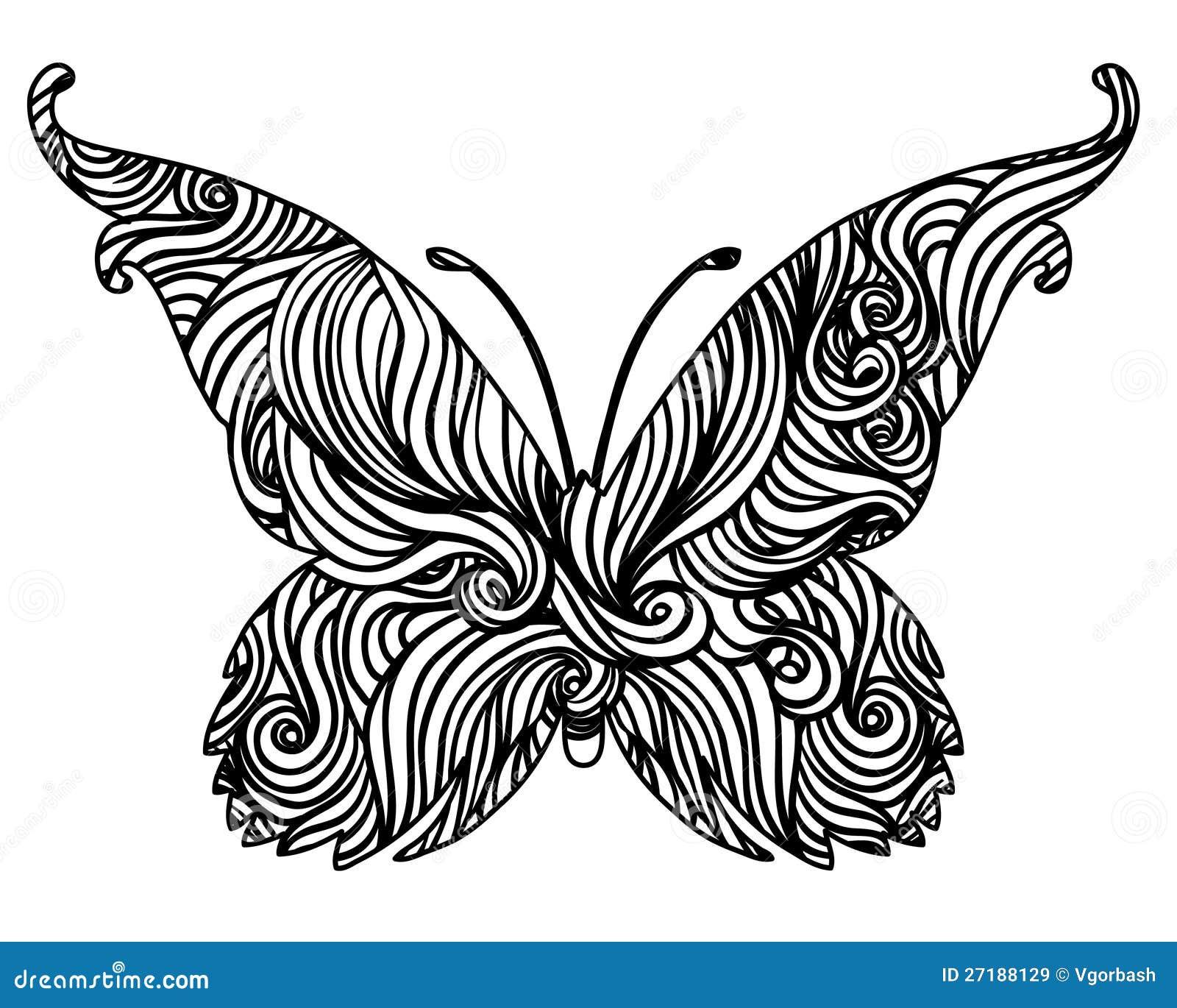 dise o blanco y negro abstracto de la mariposa im genes de