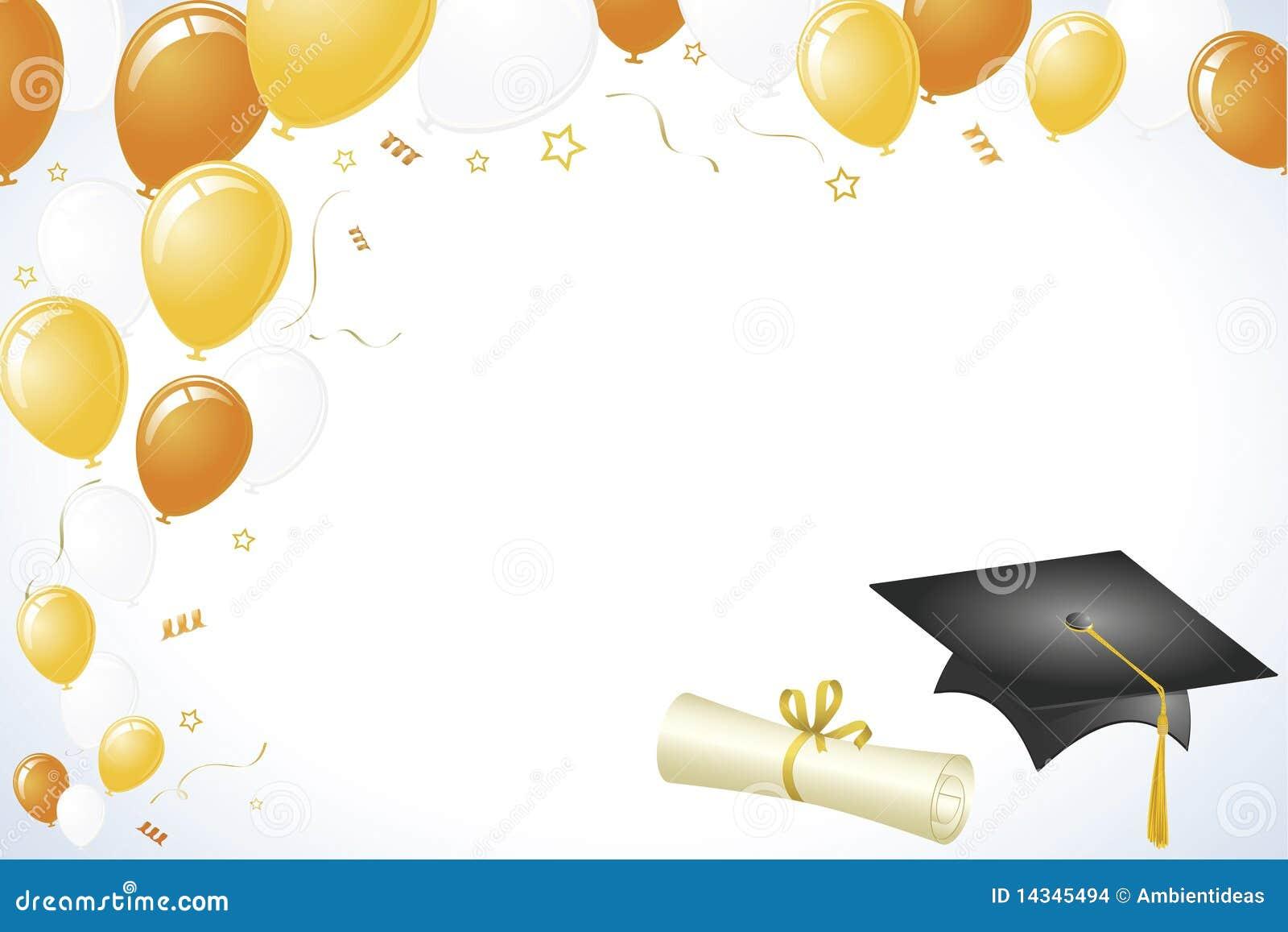 Blue and Gold Graduation Wallpaper