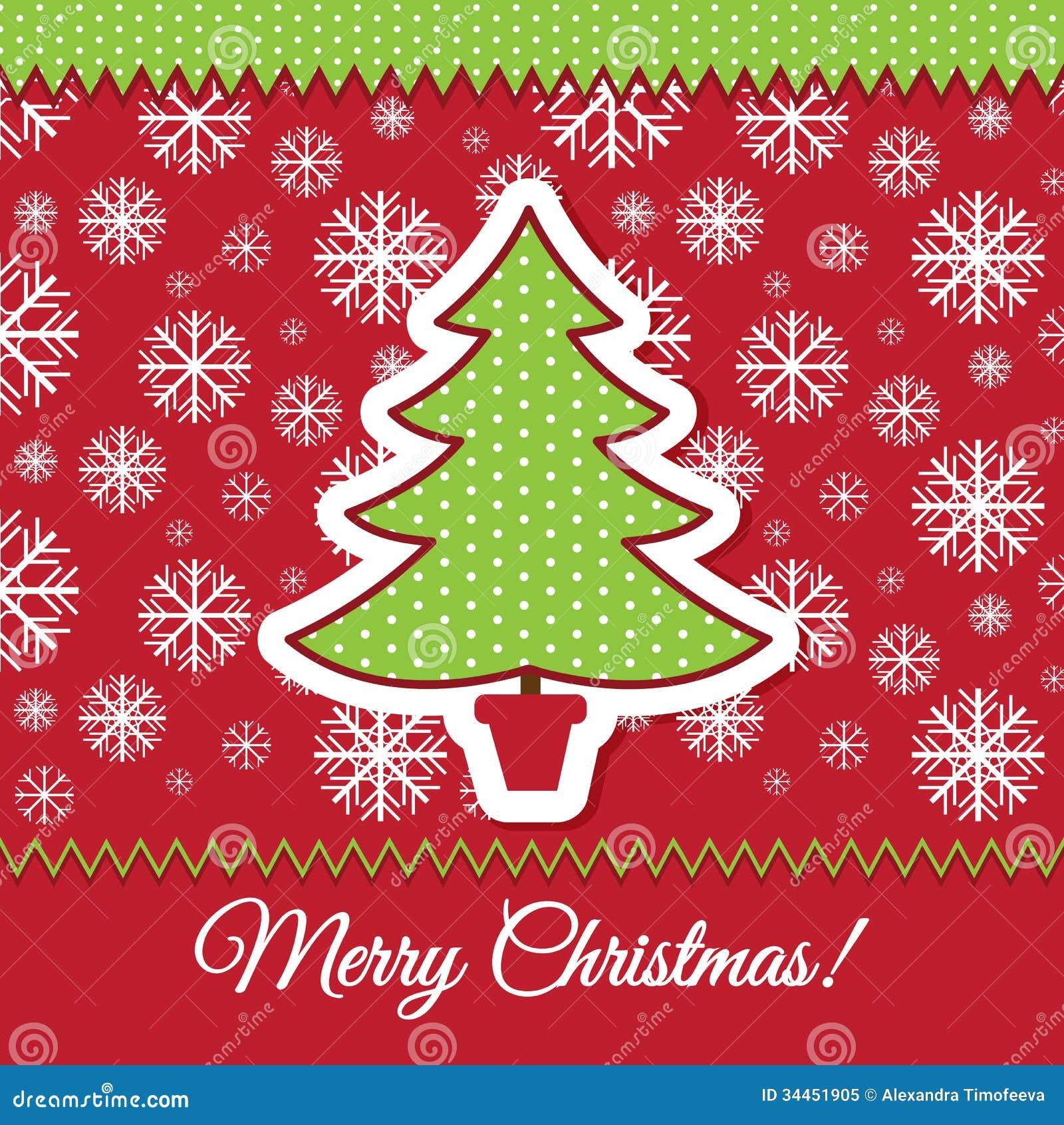 Dise o de la tarjeta de felicitaci n del rbol de navidad - Diseno de arboles de navidad ...
