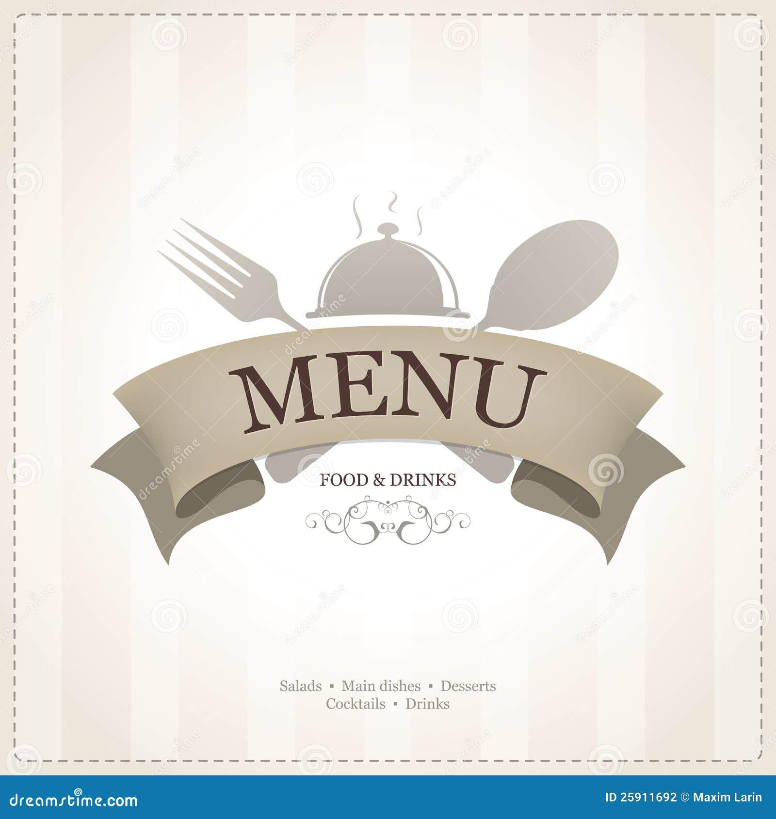 Dise o del men del restaurante fotograf a de archivo for Disenos de menus para cafeterias