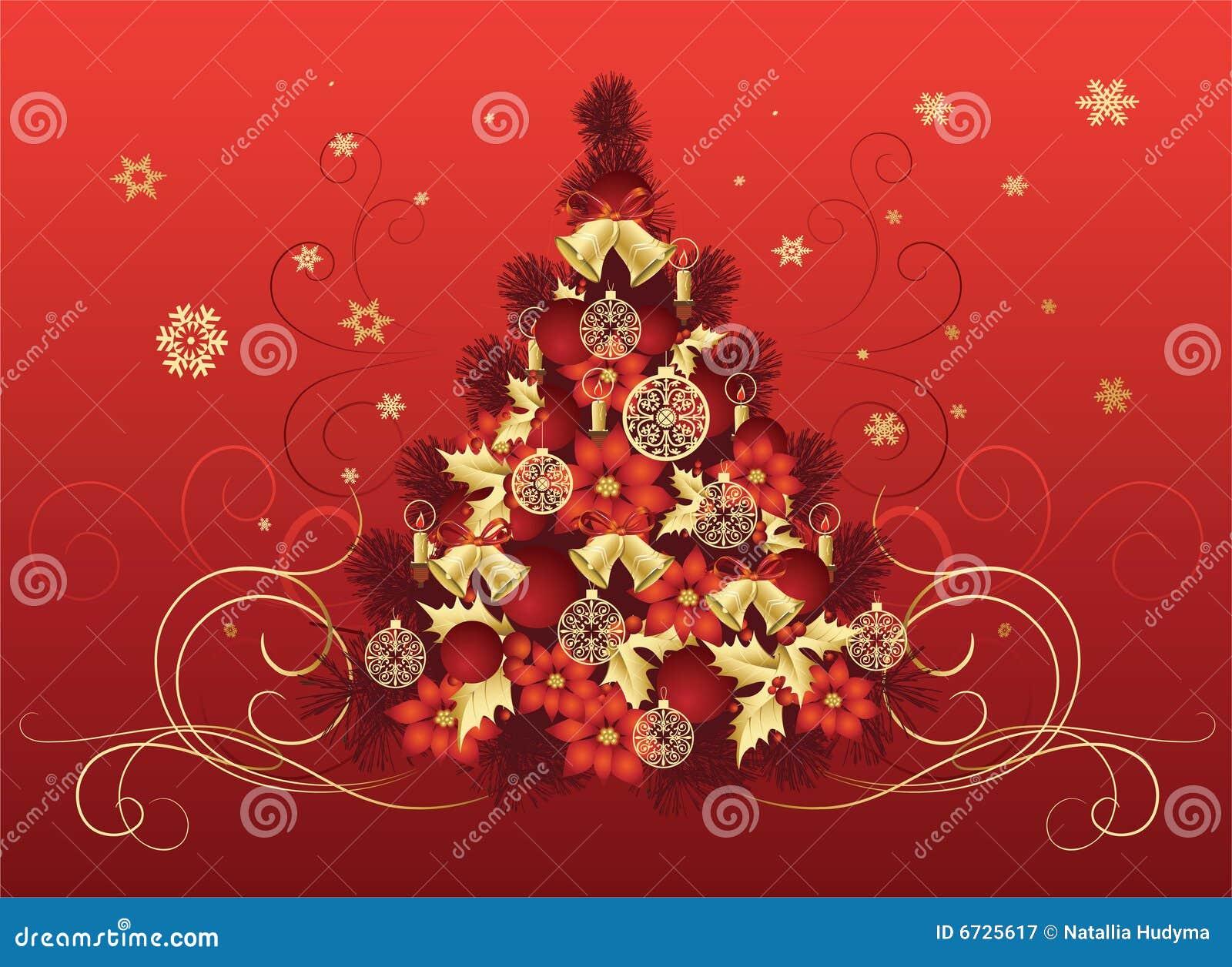 Dise o del rbol de navidad fotograf a de archivo libre de - Arbol de navidad diseno ...