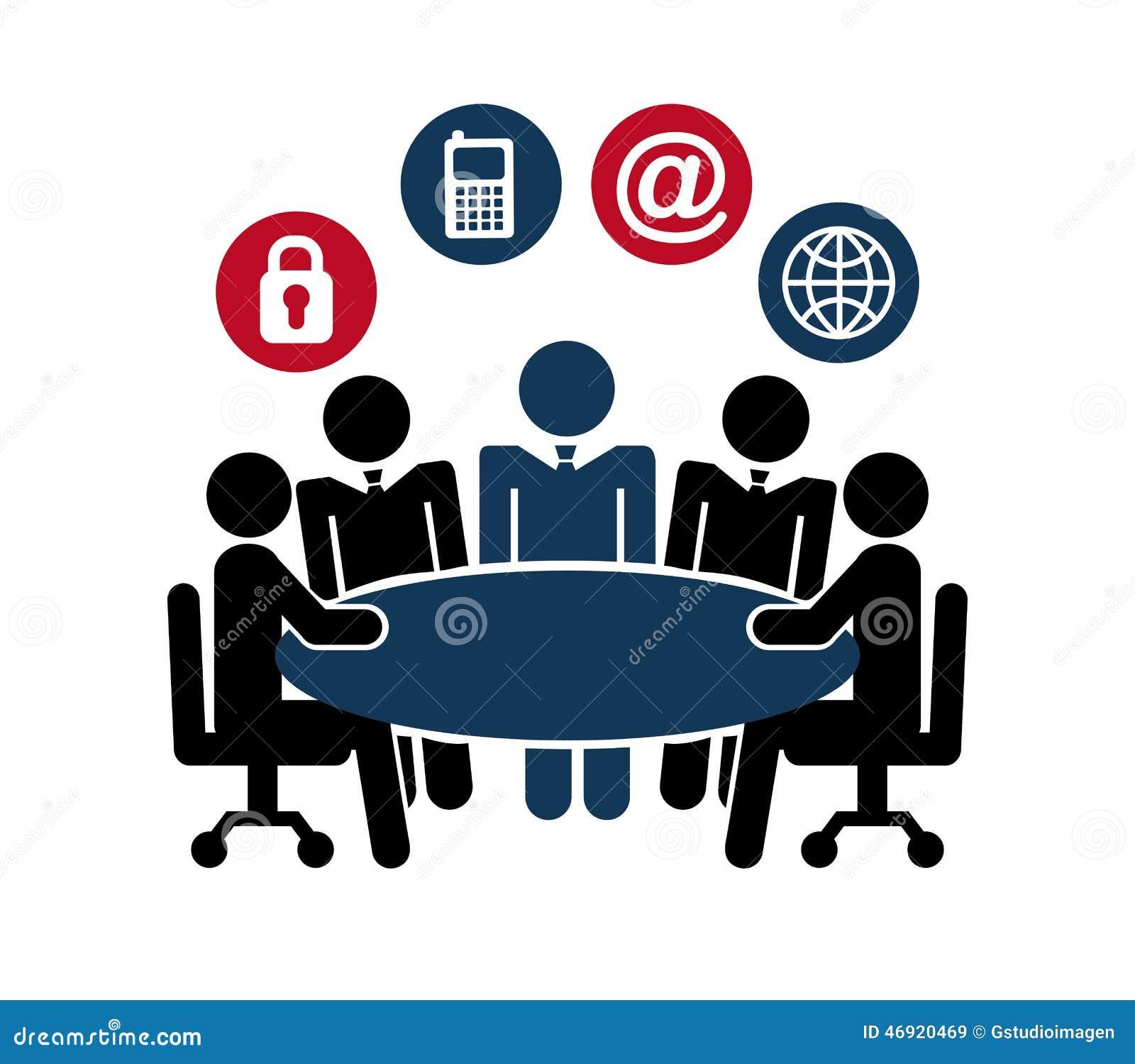 Dise o del trabajo en equipo ilustraci n del vector for Diseno mesa de trabajo