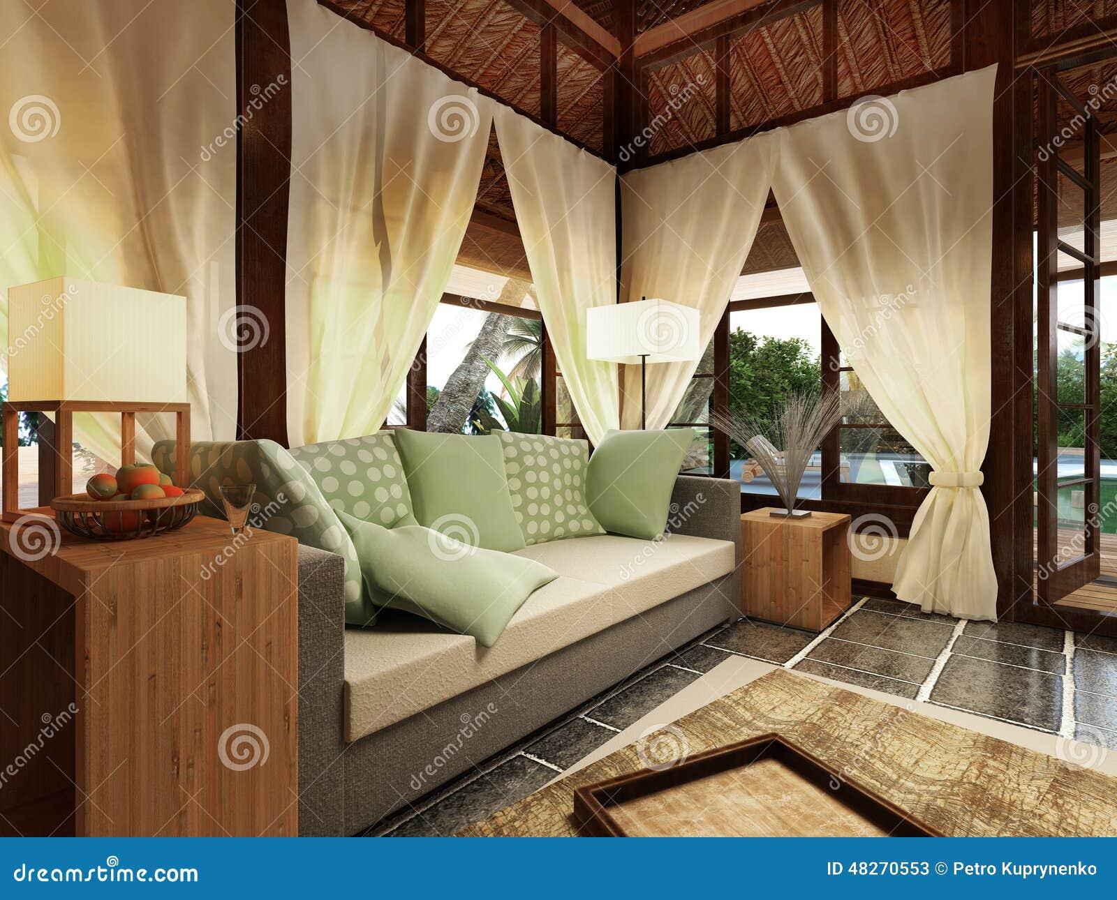 Dise o interior de la casa de planta baja stock de - Diseno interior casa ...
