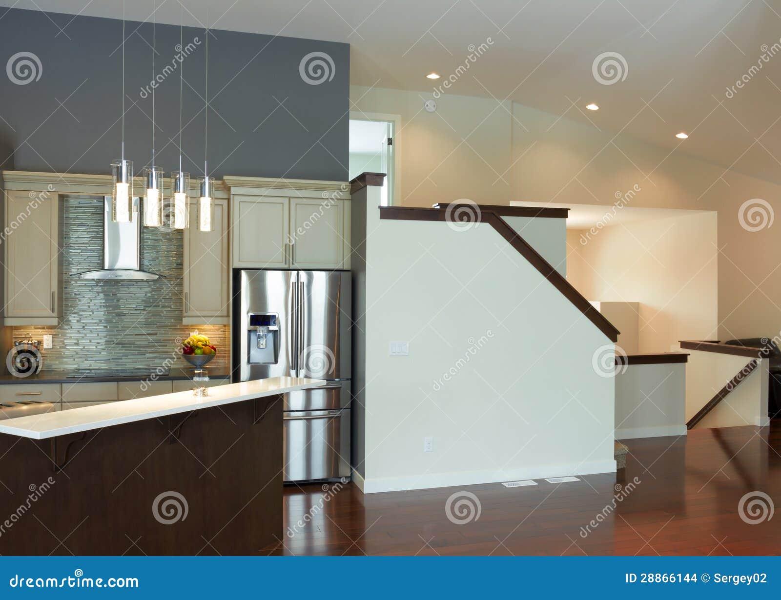 Dise o interior de la cocina moderna imagenes de archivo - La cocina moderna ...