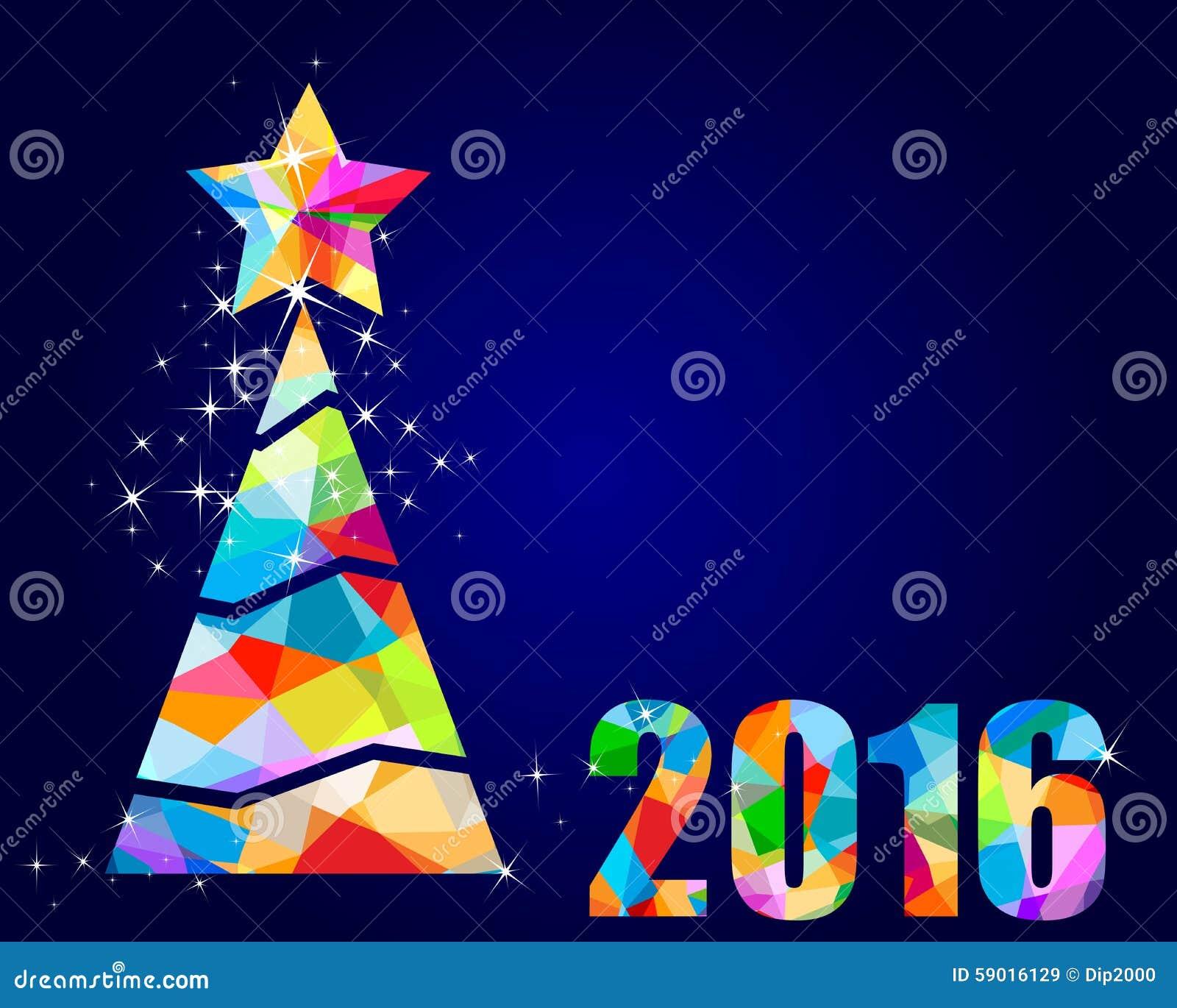 Dise o triangular 2016 del rbol de navidad stock de - Arbol de navidad diseno ...