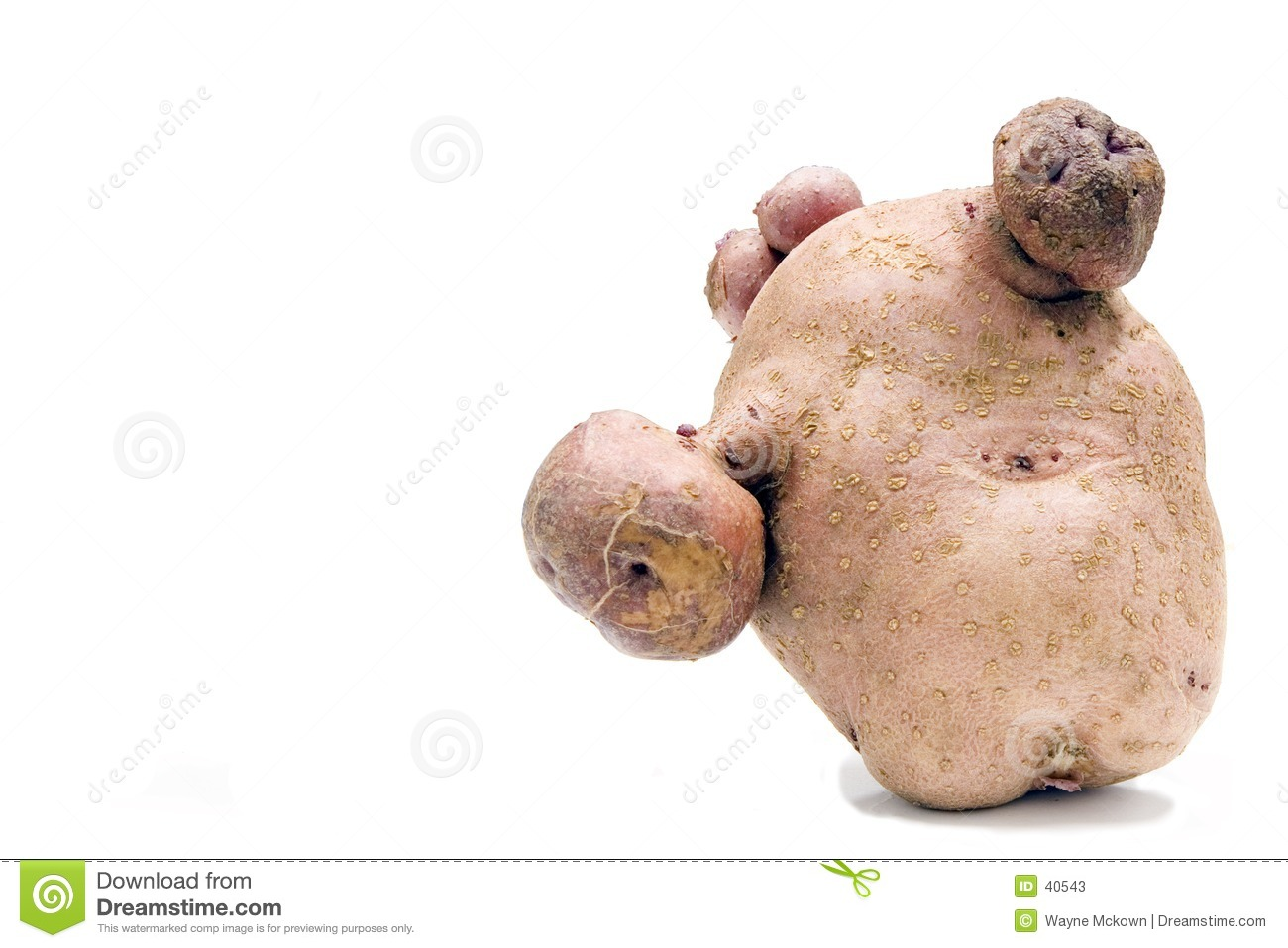 Disfigured potatoe
