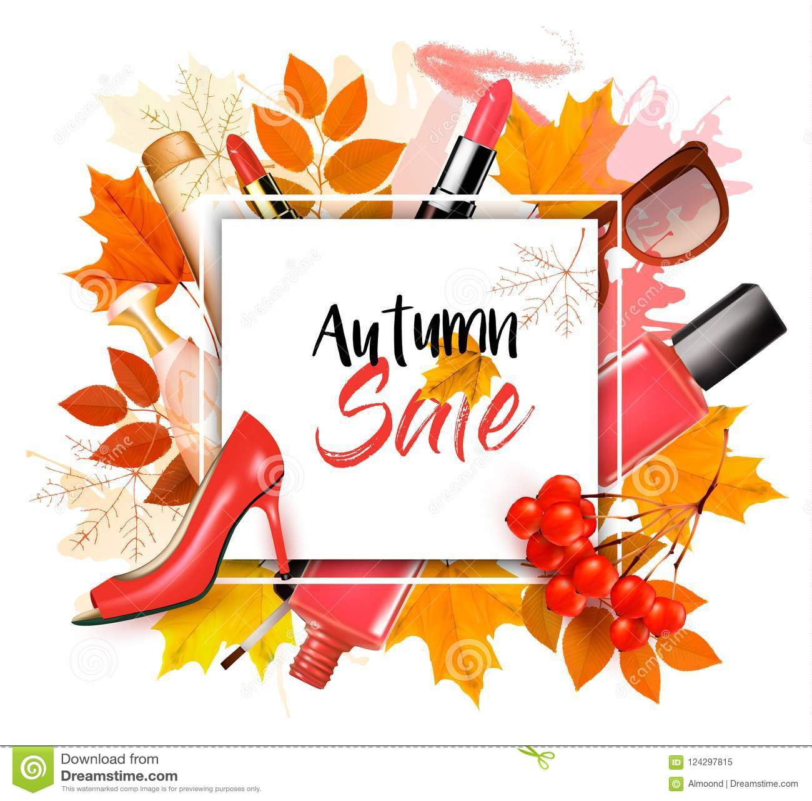 Disfrute del fondo de Autumn Sales con las hojas de otoño
