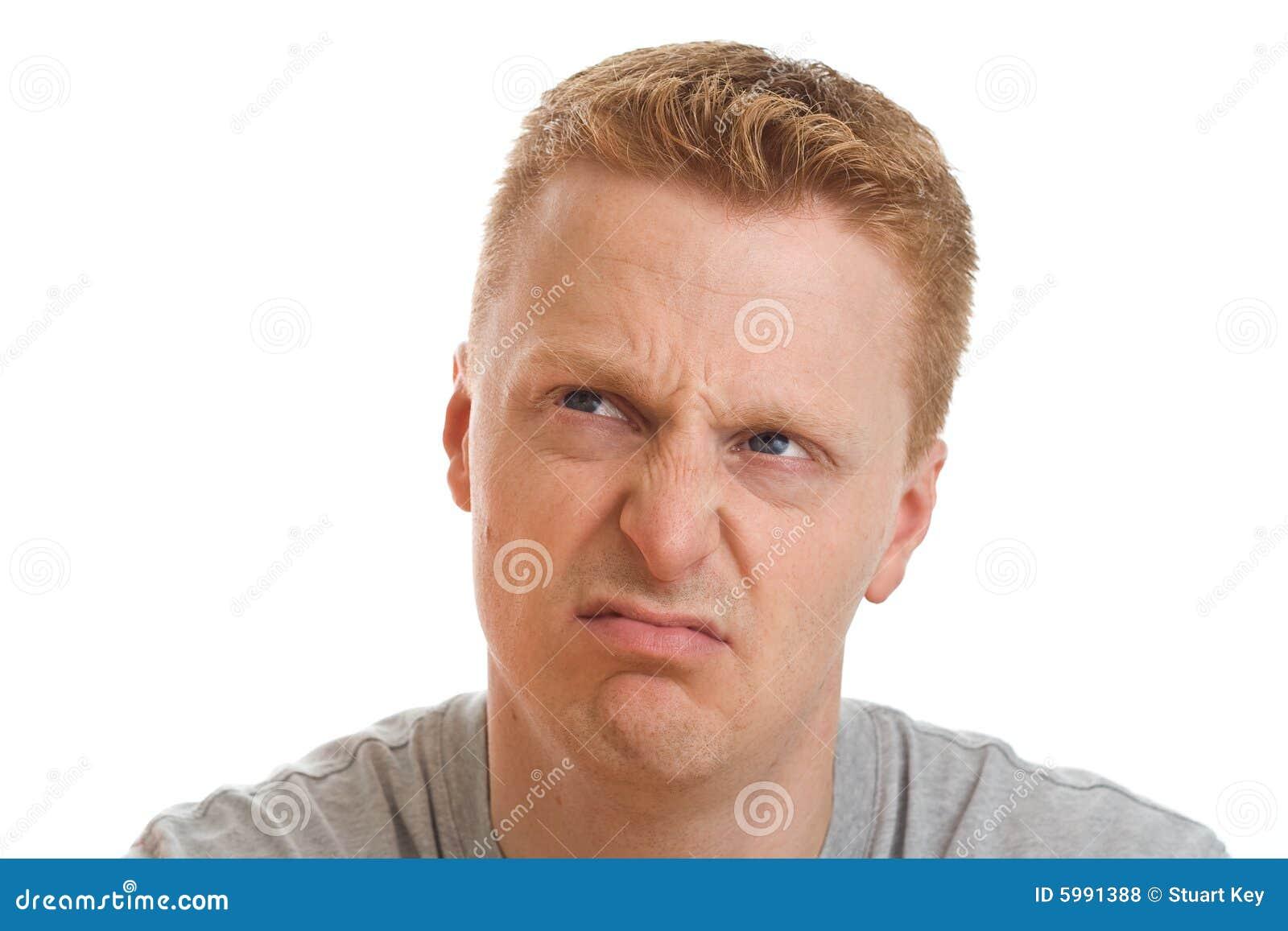 Disgruntled man