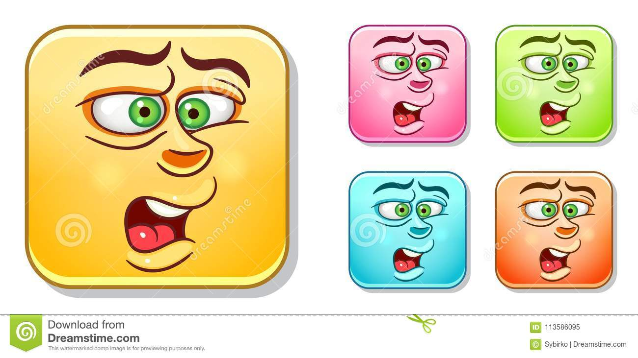 Disgusted emoticons collection