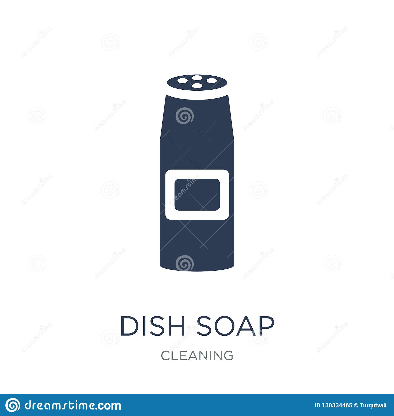Dish soap icon. Trendy flat vector Dish soap icon on white background from Cleaning collection