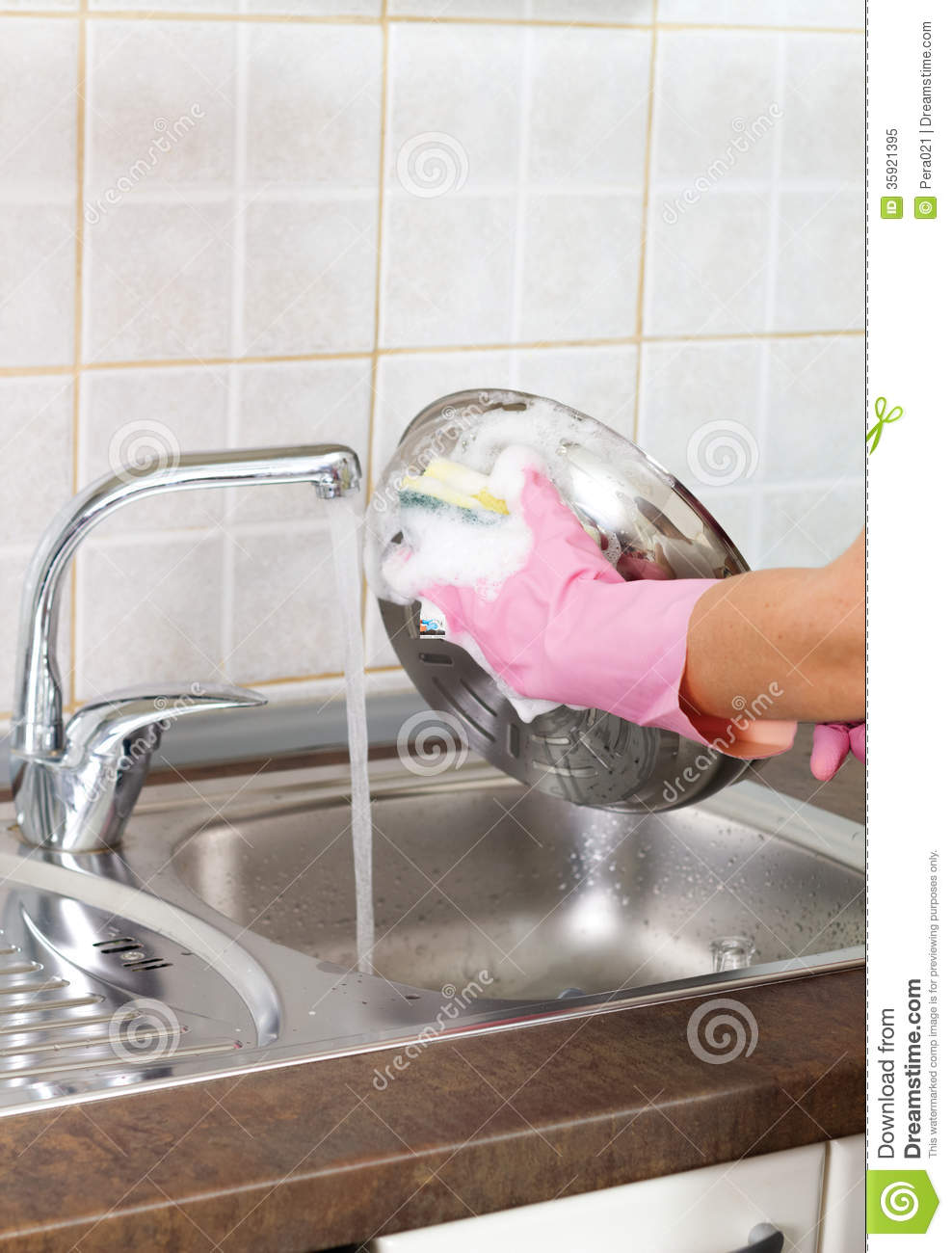 Kitchen Sink With Clean Dishes simple kitchen sink with clean dishes an empty plastic bin in your