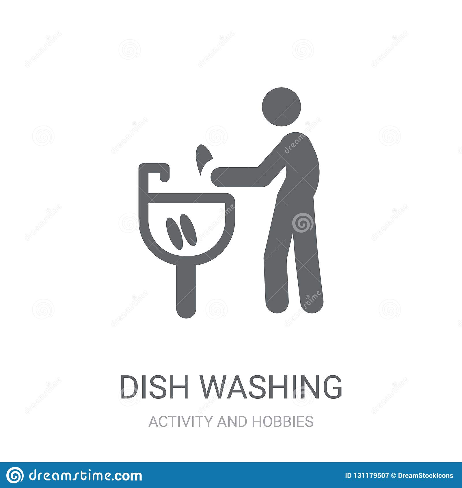 Dish Washing icon. Trendy Dish Washing logo concept on white background from Activity and Hobbies collection