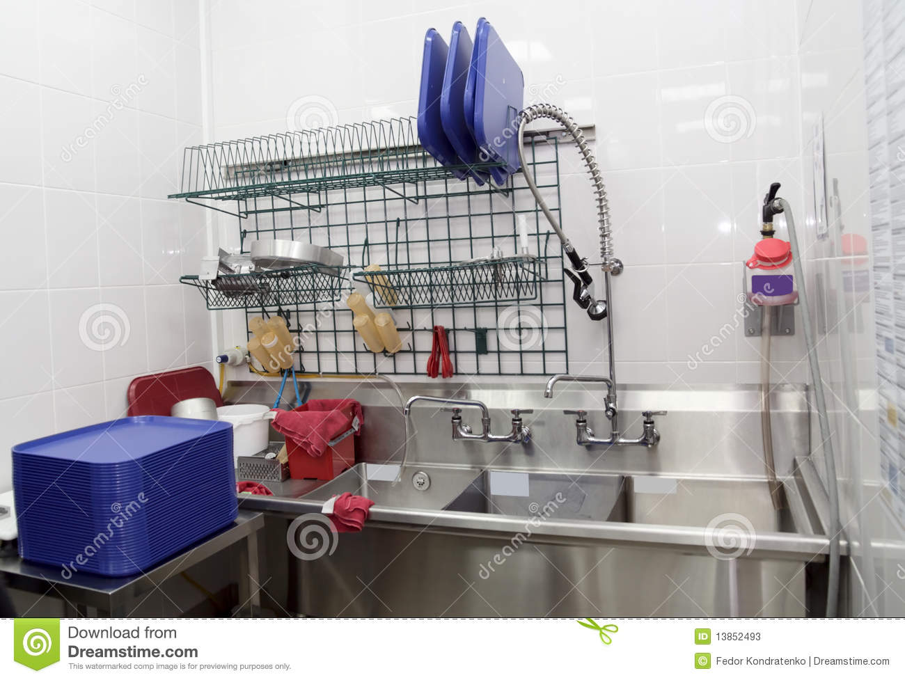 Dish Washing Room In A Restaurant Stock Photos Image