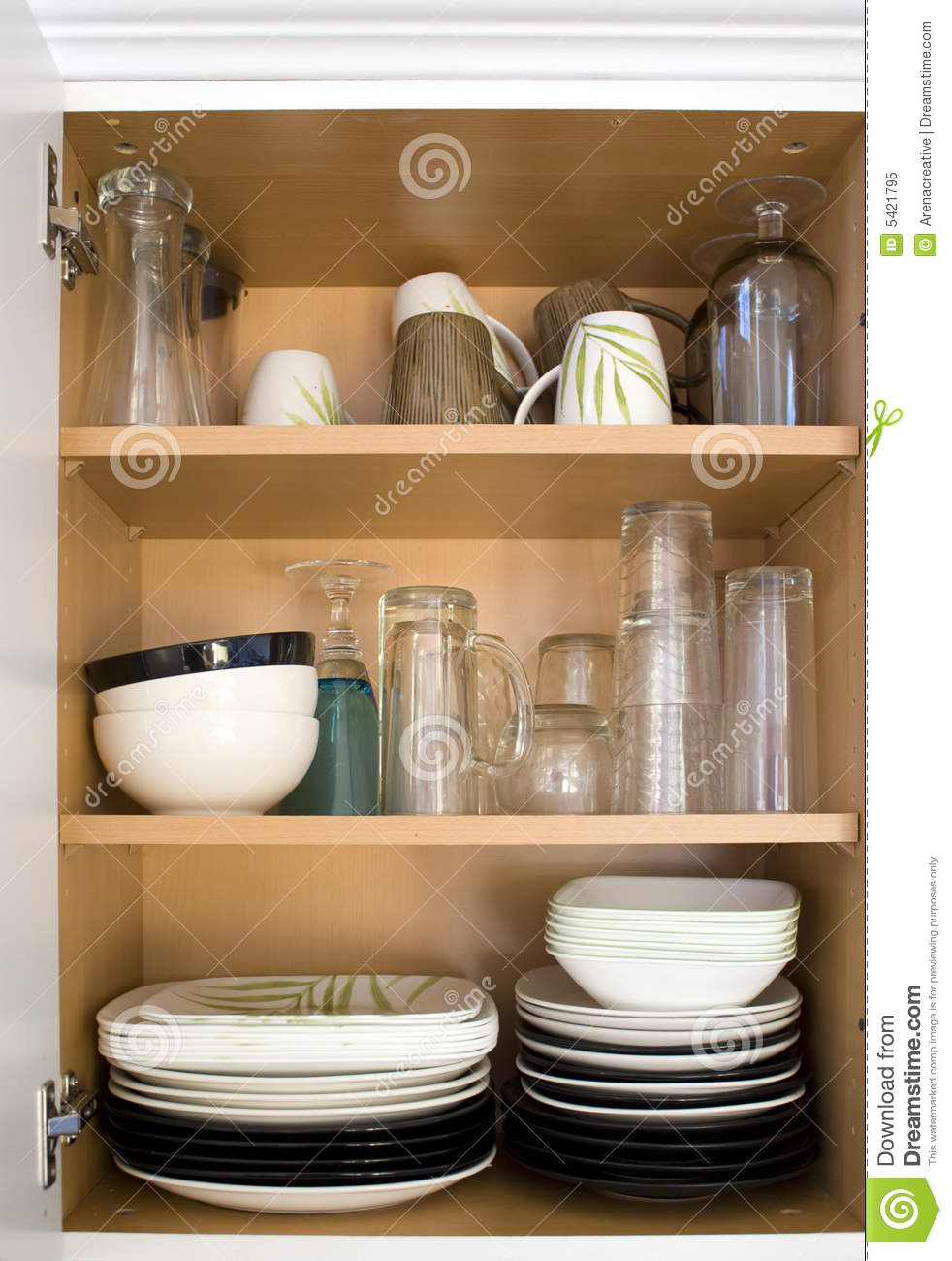 Dishes in the Cupboard