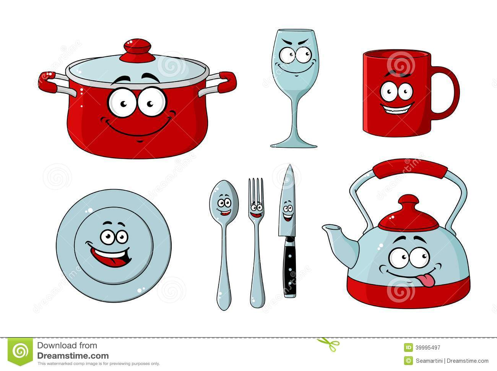 Dishware de bande dessin e et ensemble de vaisselle de for Vaisselle de cuisine